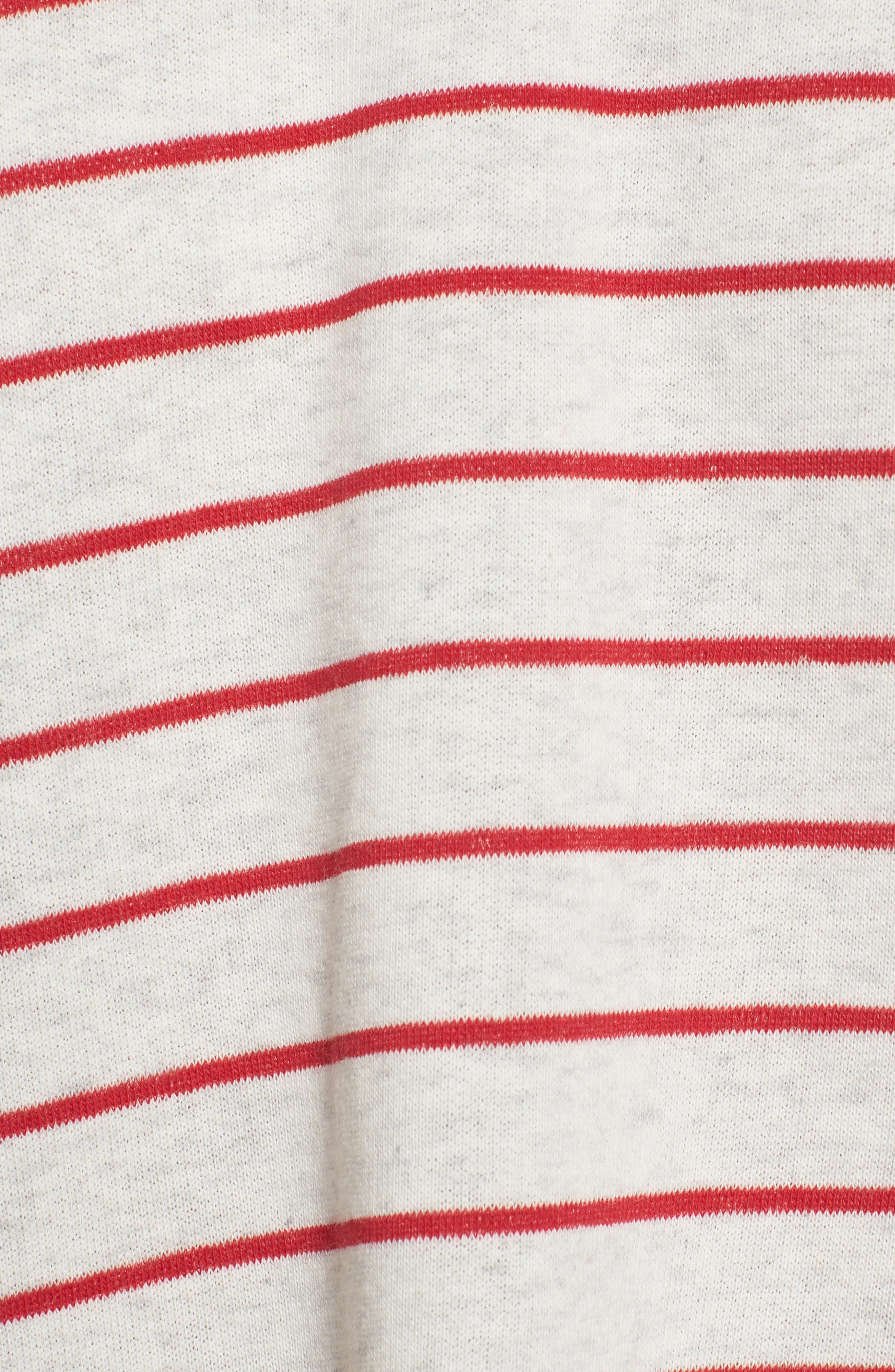 Drop Shoulder Stripe Sweater,                             Alternate thumbnail 10, color,