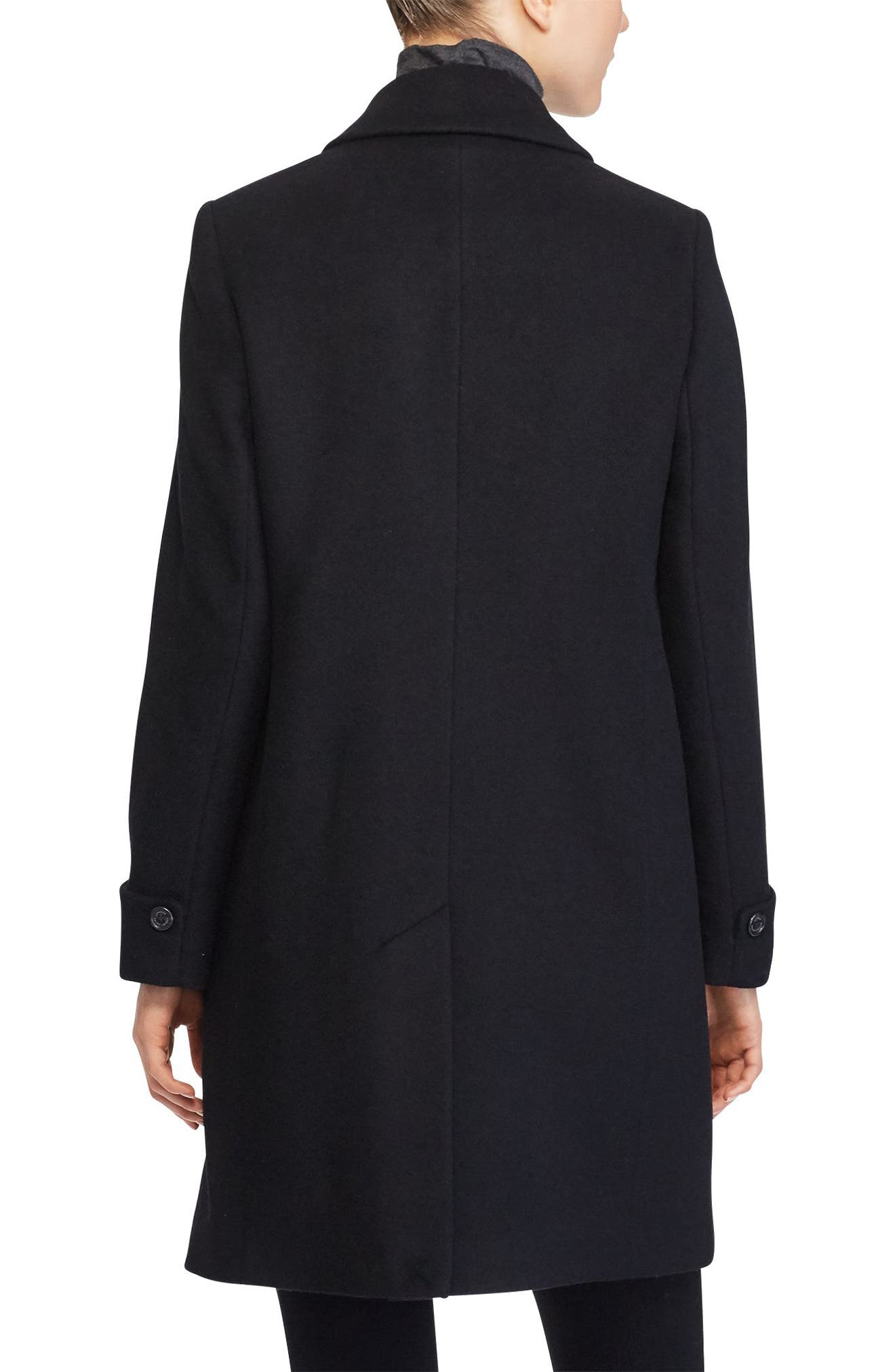 Wool Blend Coat,                             Alternate thumbnail 2, color,                             001