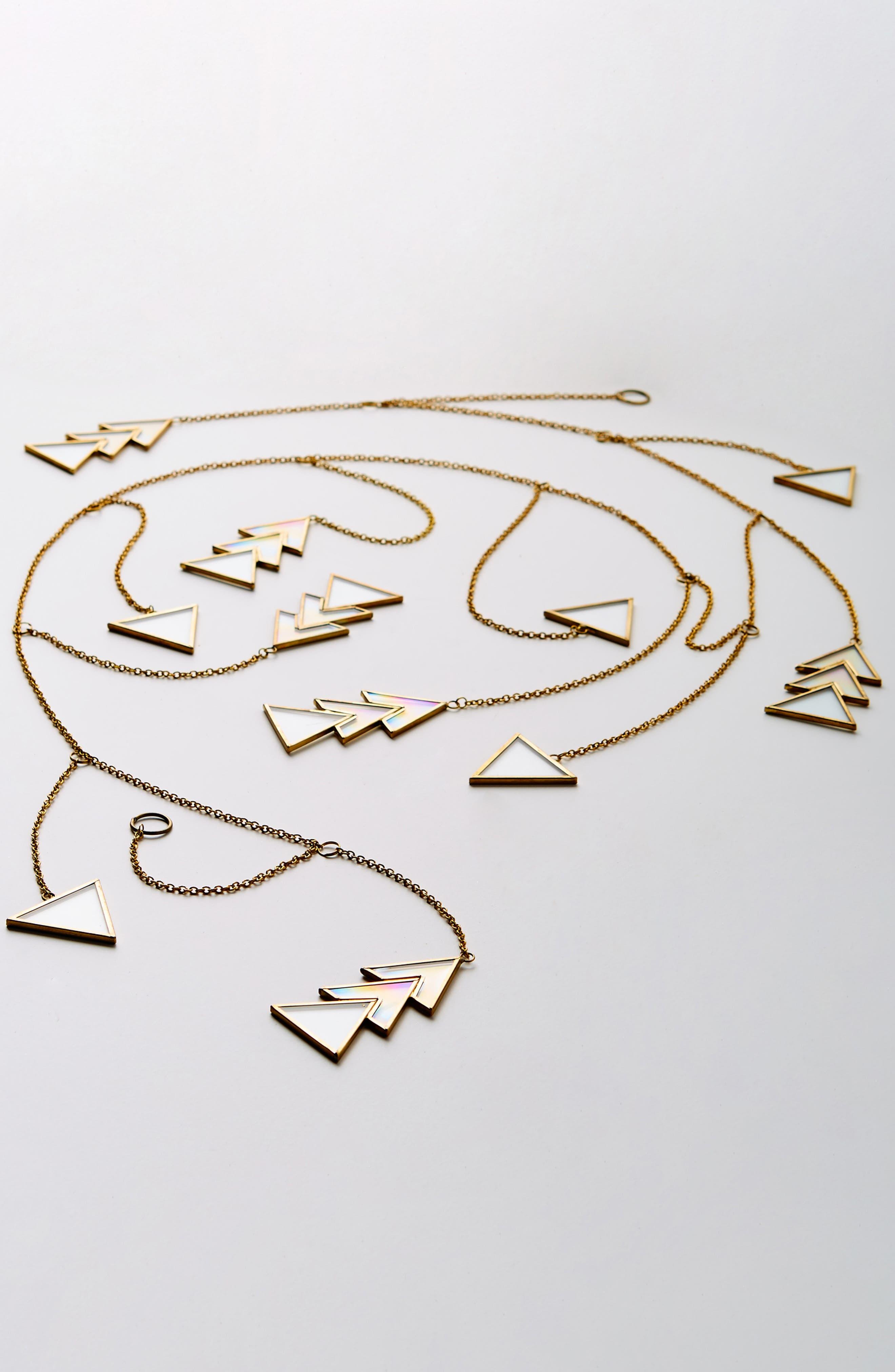 Jolie Brass & Glass Garland,                         Main,                         color, GOLD