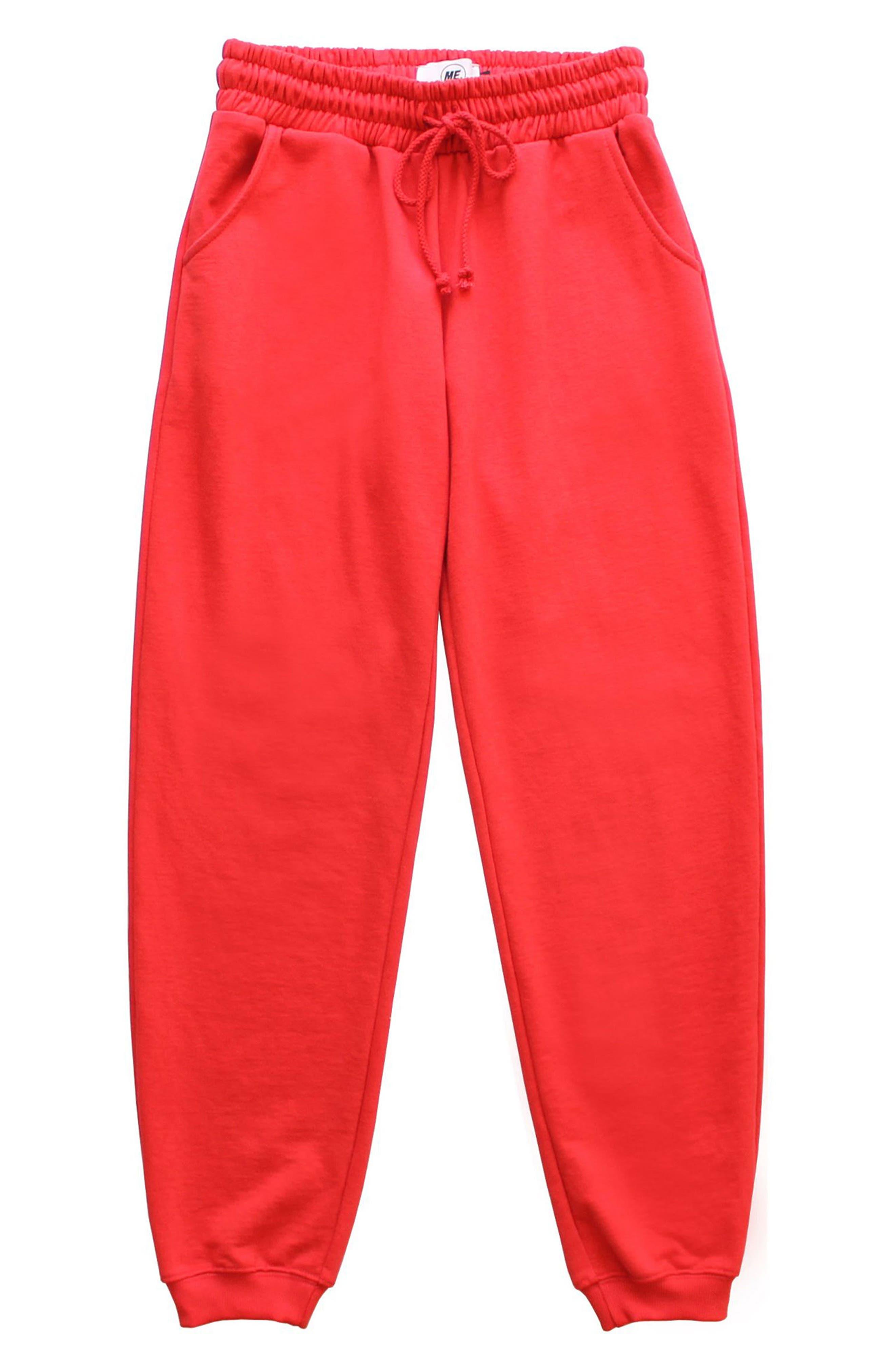 ME. Rose Sweatpants,                             Main thumbnail 1, color,                             CHERRY RED