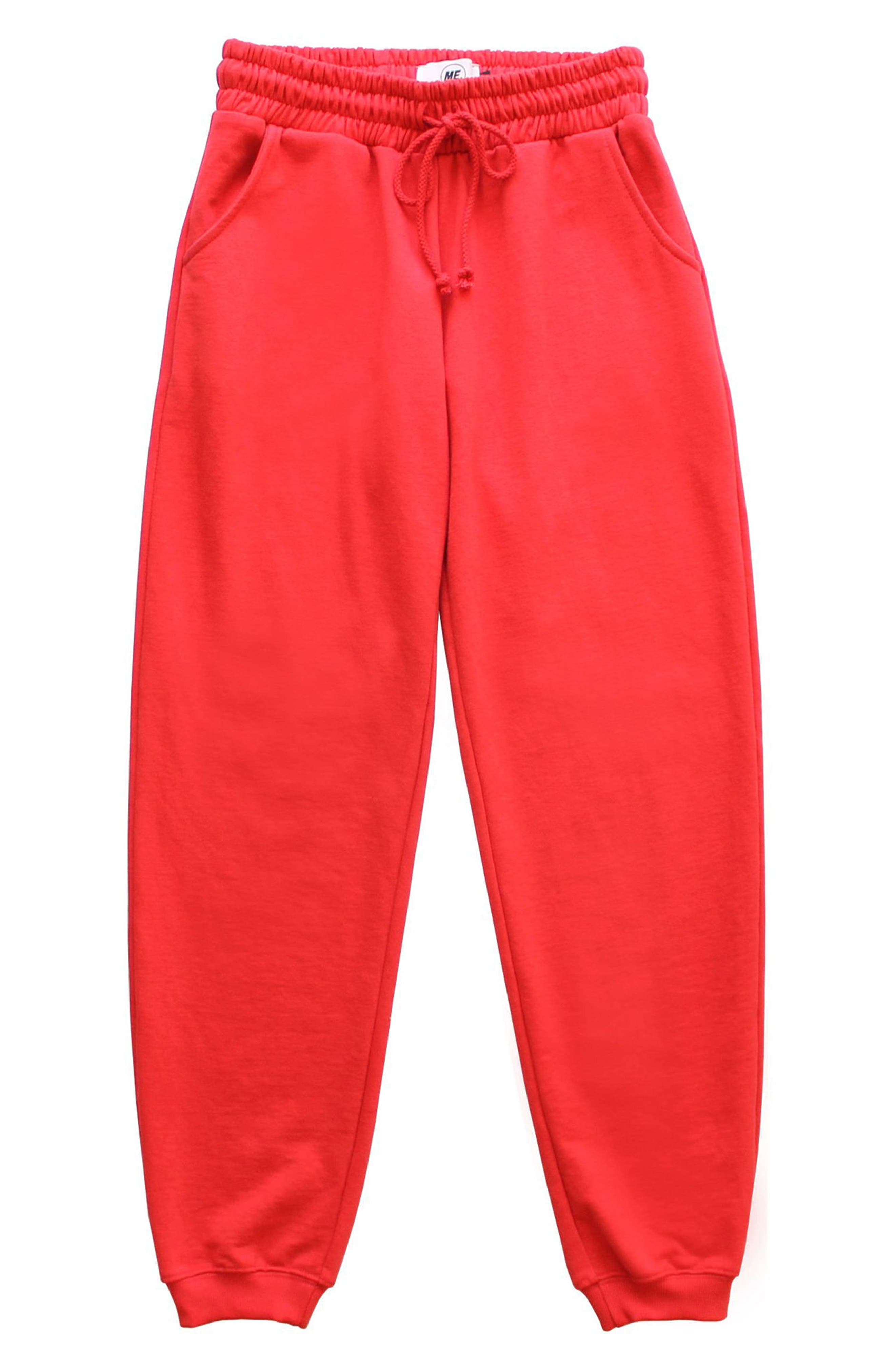 ME. Rose Sweatpants,                         Main,                         color, CHERRY RED