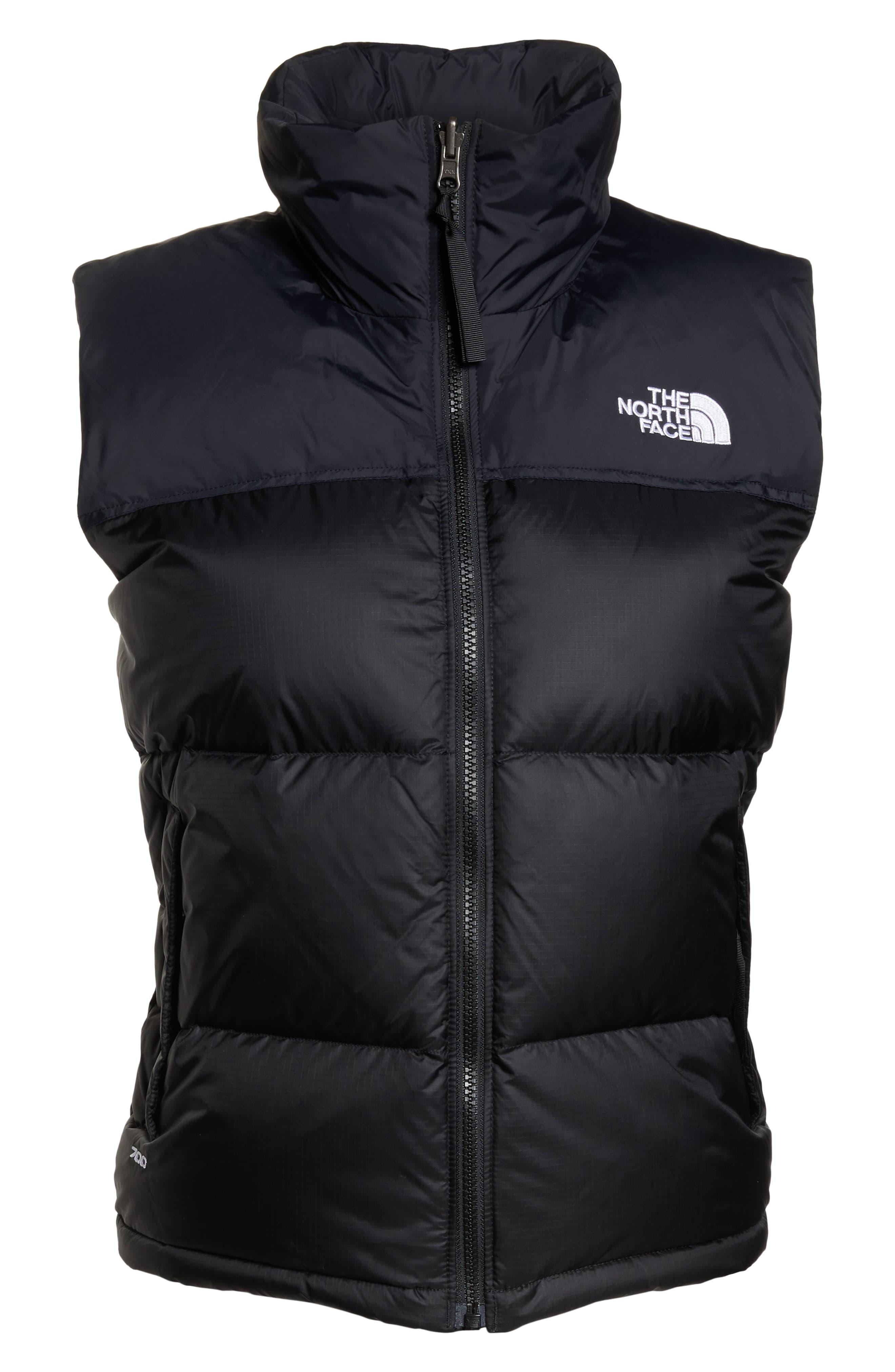 Nuptse 1996 Packable 700-Fill Power Down Vest,                             Alternate thumbnail 6, color,                             TNF BLACK