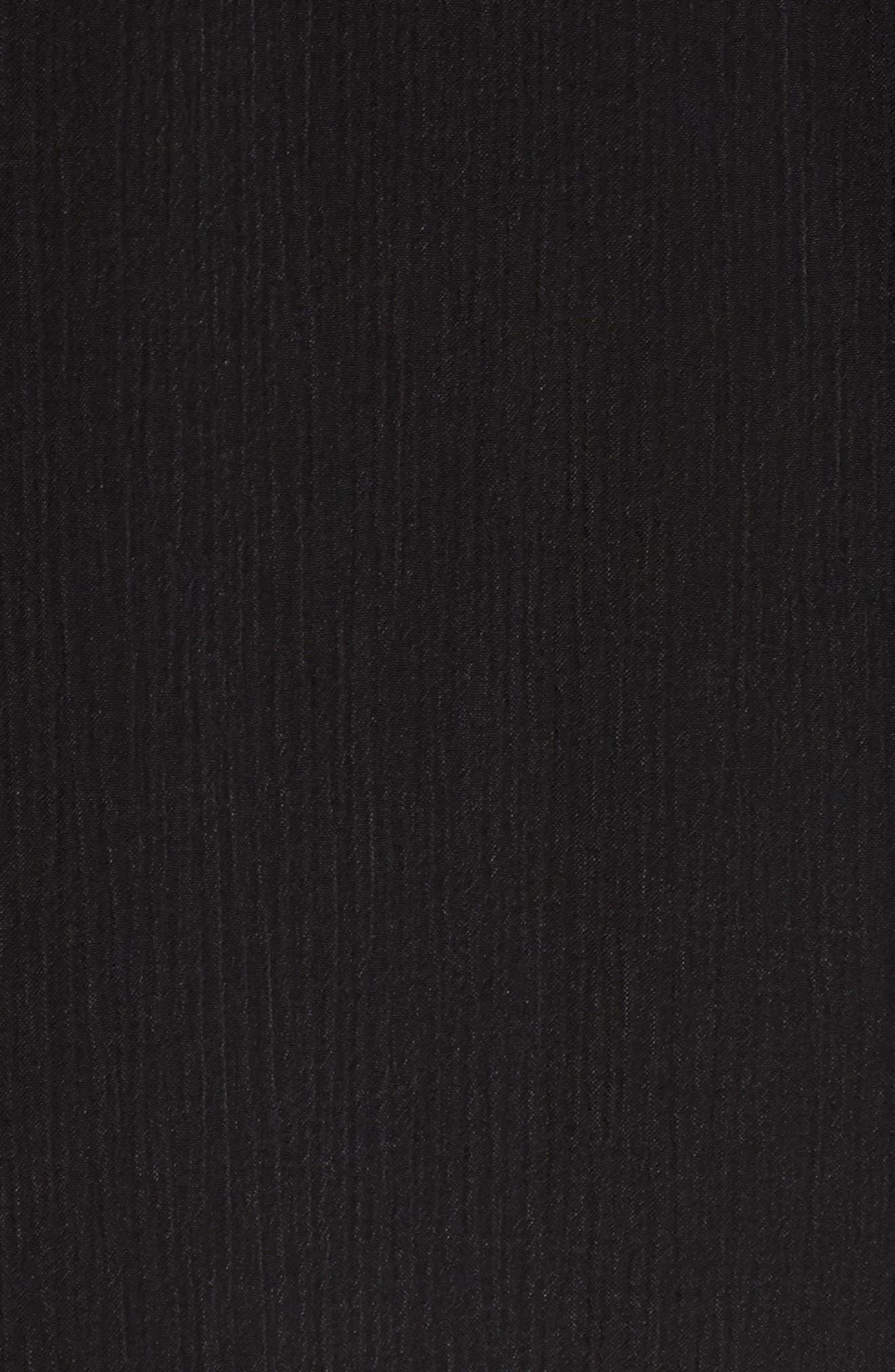 Choker Neck Wrap Dress,                             Alternate thumbnail 5, color,                             001