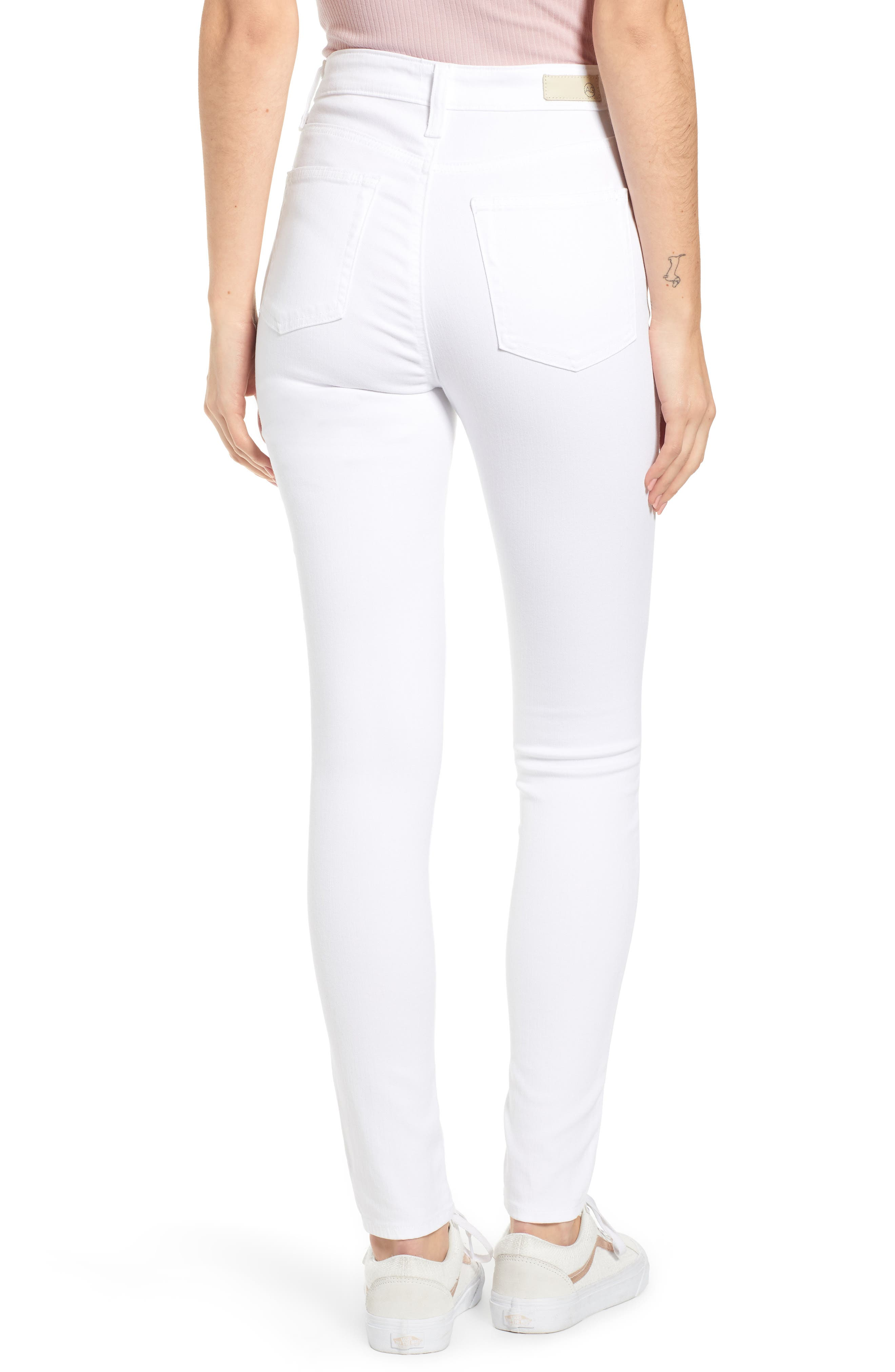 AG,                             The Mila Super High Waist Ankle Skinny Jeans,                             Alternate thumbnail 2, color,                             110
