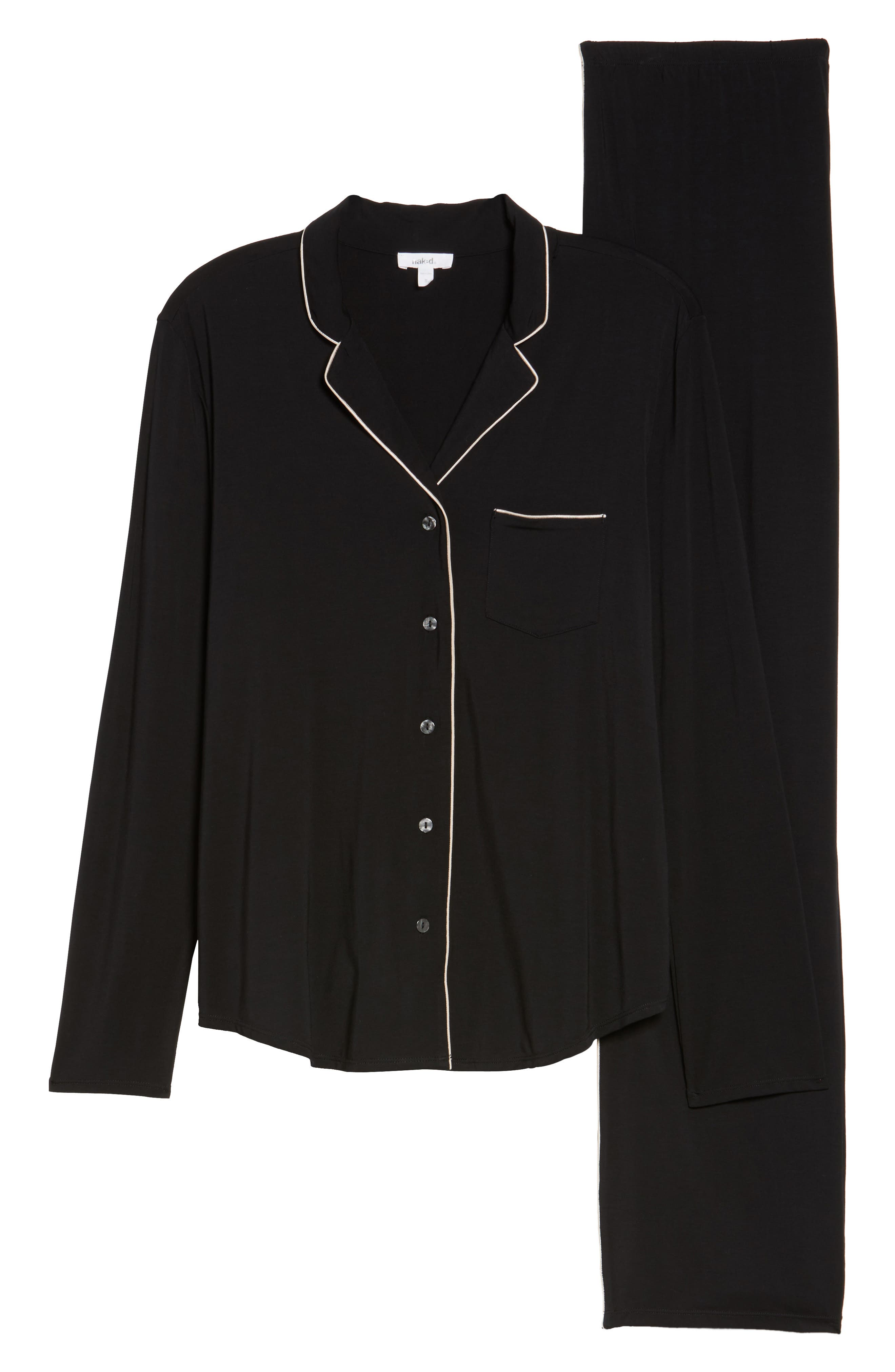 Modal Pajamas,                             Alternate thumbnail 6, color,                             BLACK