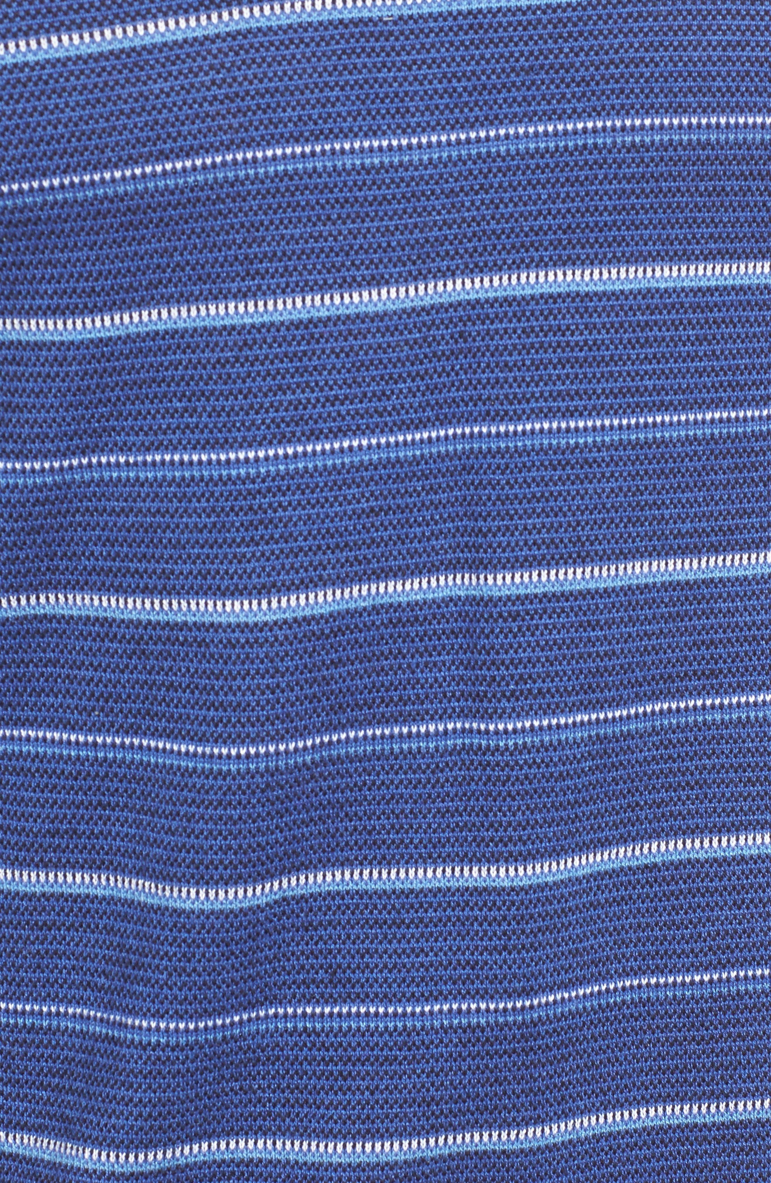 Stripe Silk Blend Sweater,                             Alternate thumbnail 5, color,                             411