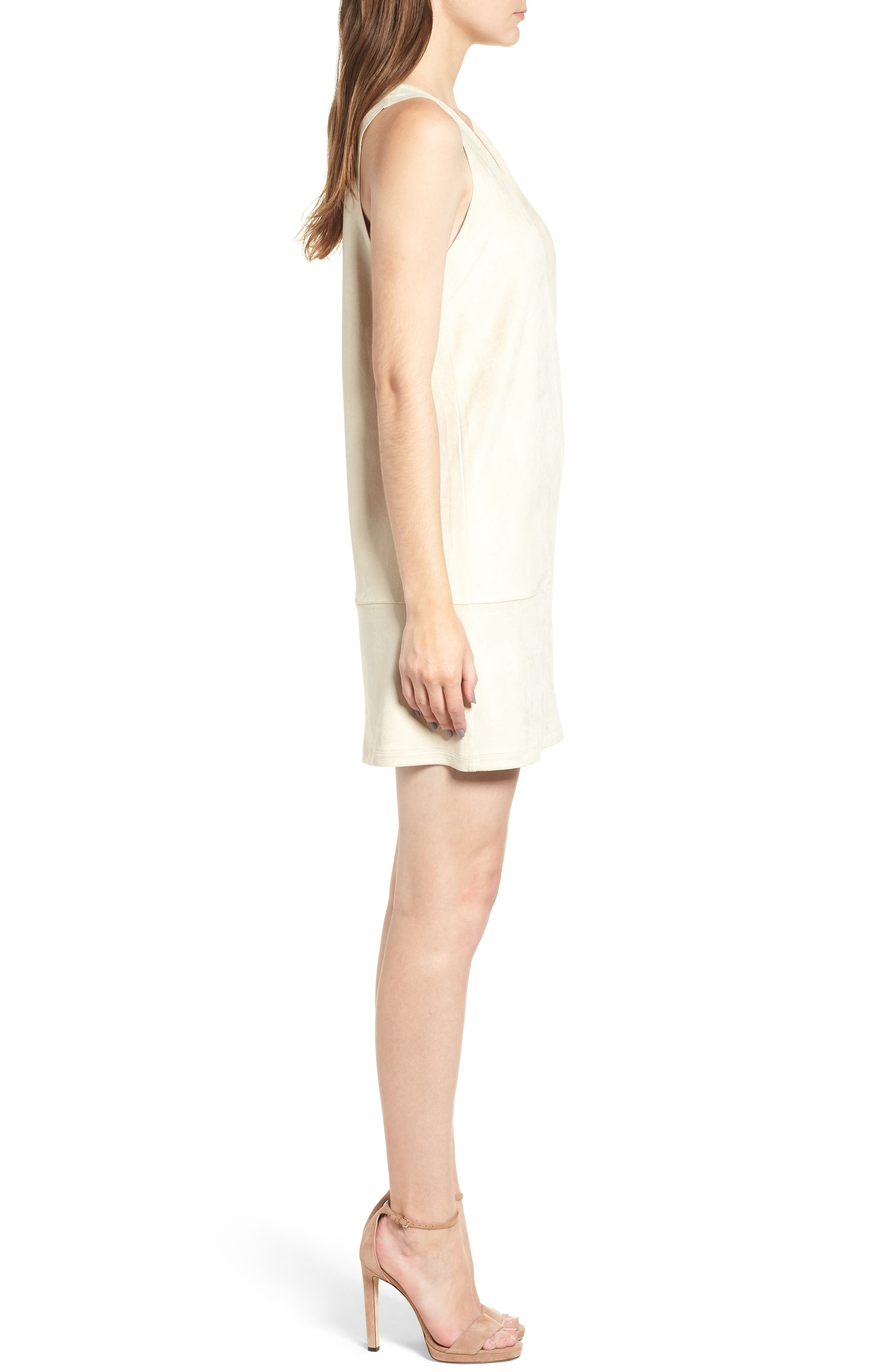Sueded Sleeveless Shift Dress,                             Alternate thumbnail 3, color,                             251
