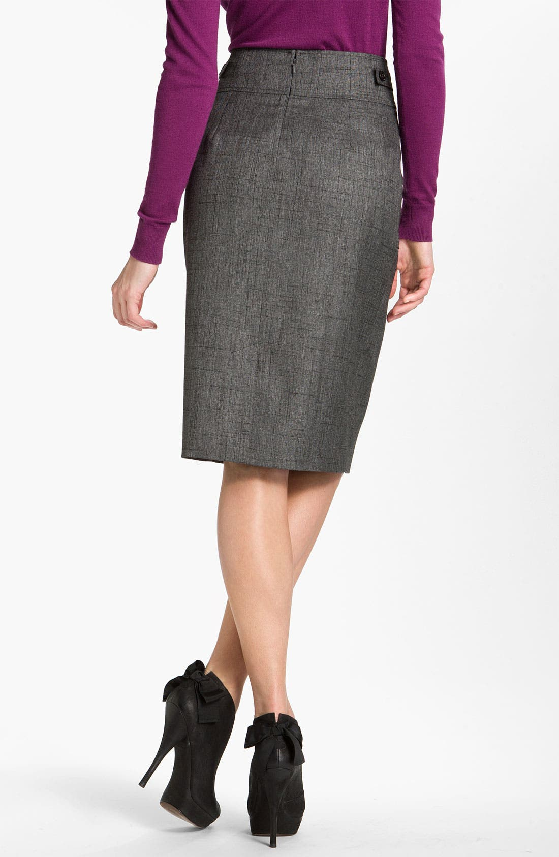 Patch Pocket Pencil Skirt,                             Alternate thumbnail 4, color,                             001