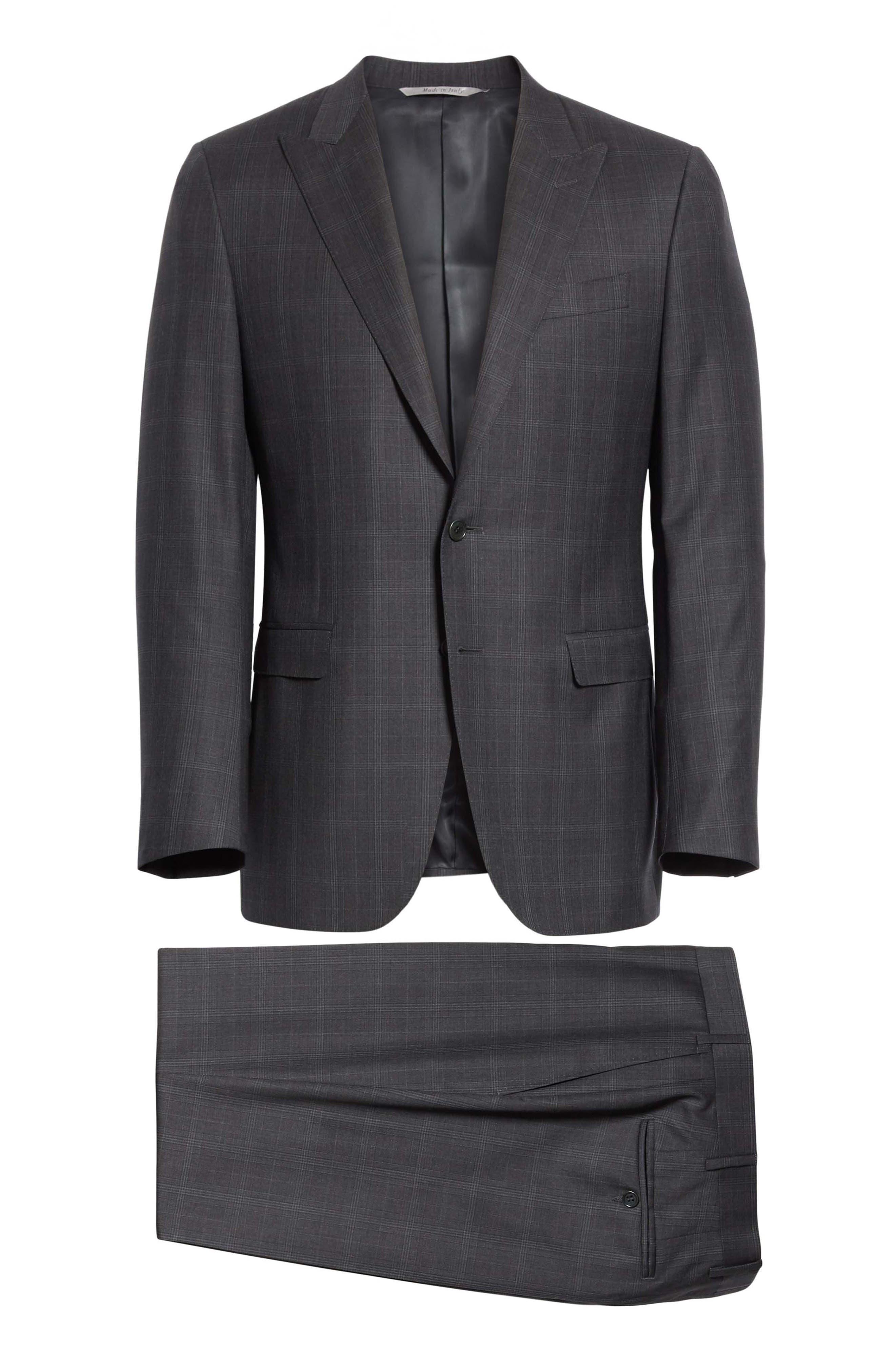 Classic Fit Plaid Wool Suit,                             Alternate thumbnail 8, color,                             023