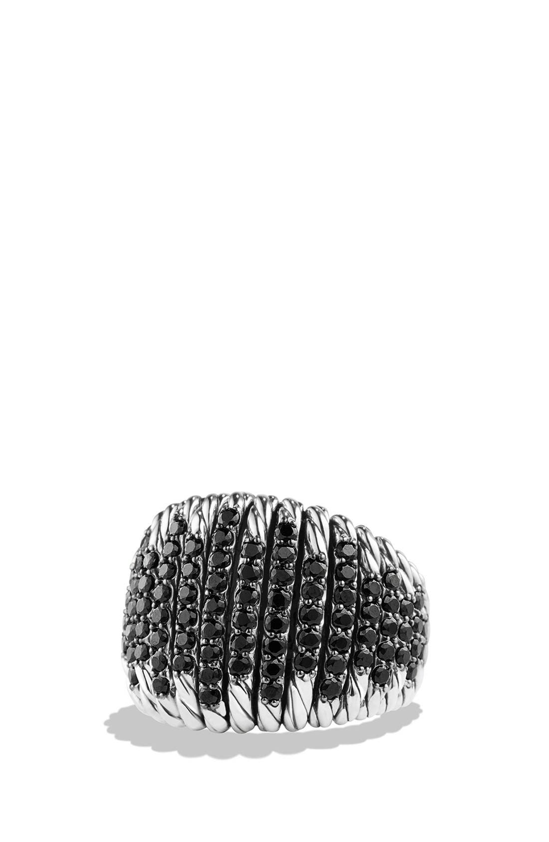 DAVID YURMAN,                             'Tempo' Ring with Spinel,                             Main thumbnail 1, color,                             BLACK SPINEL