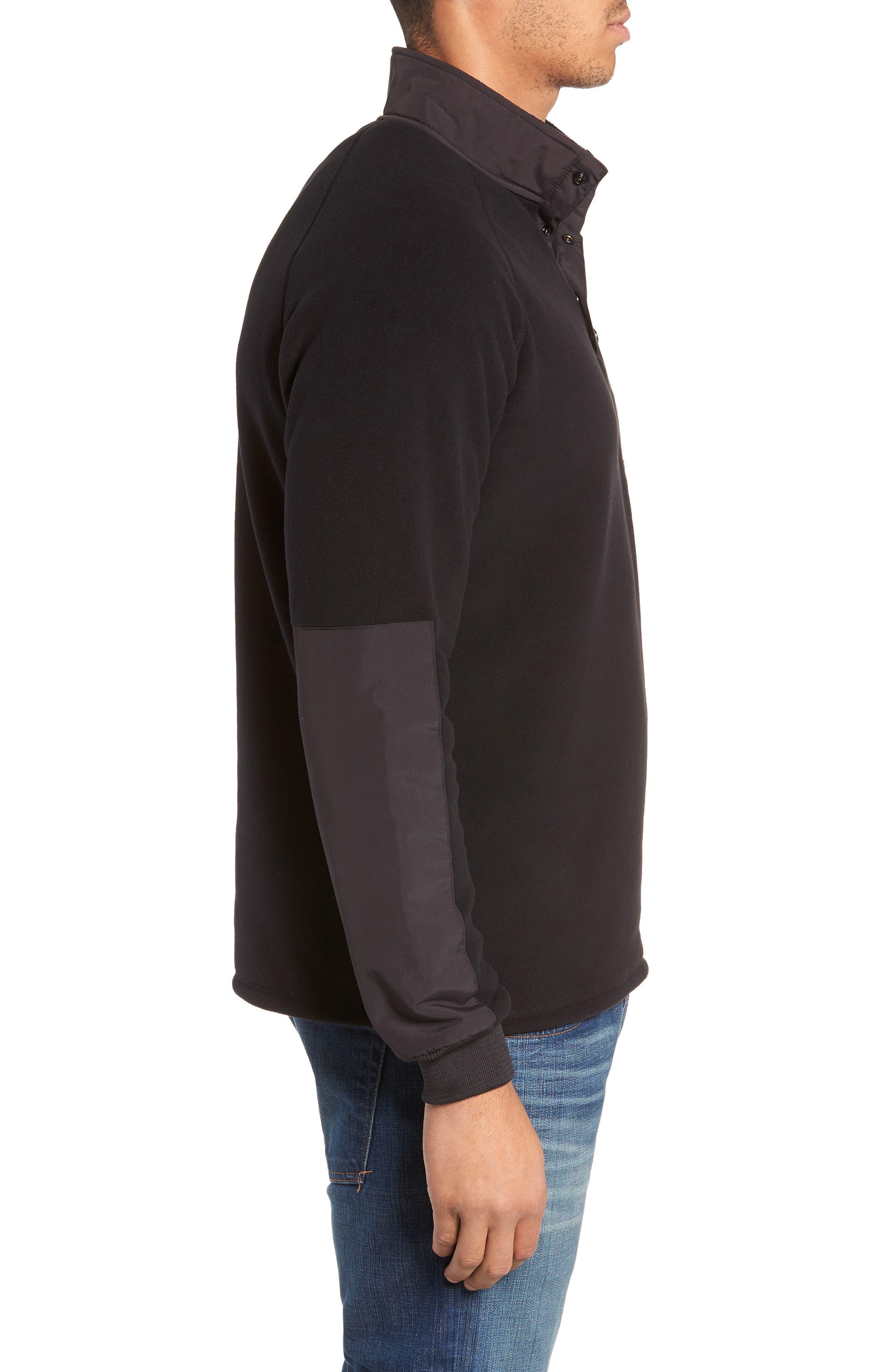 Mountain Fleece Pullover,                             Alternate thumbnail 3, color,                             BLACK