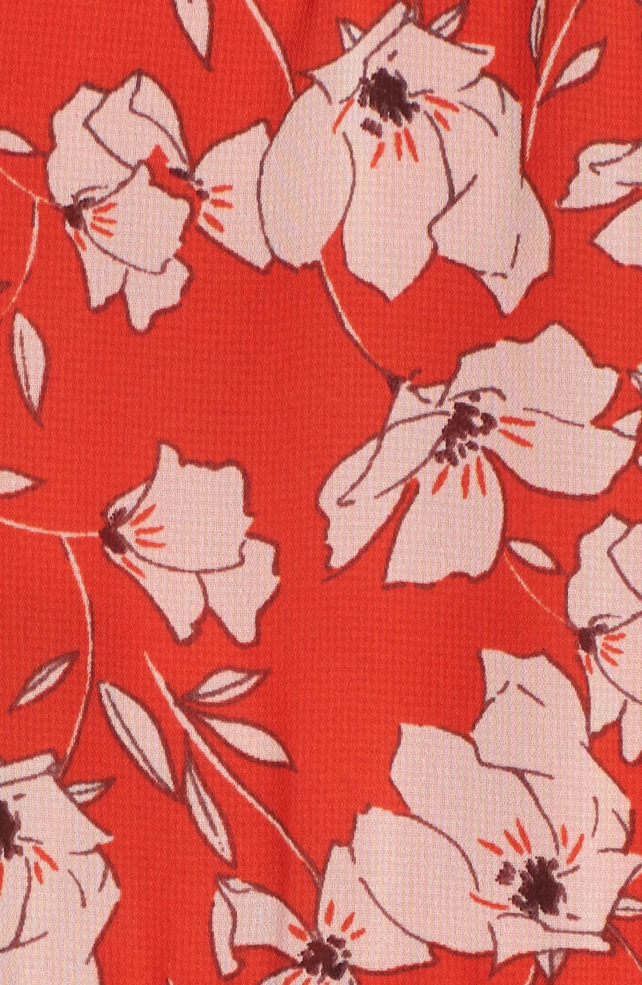 Ruffle Hem Halter Neck Chiffon Dress,                             Alternate thumbnail 6, color,                             612