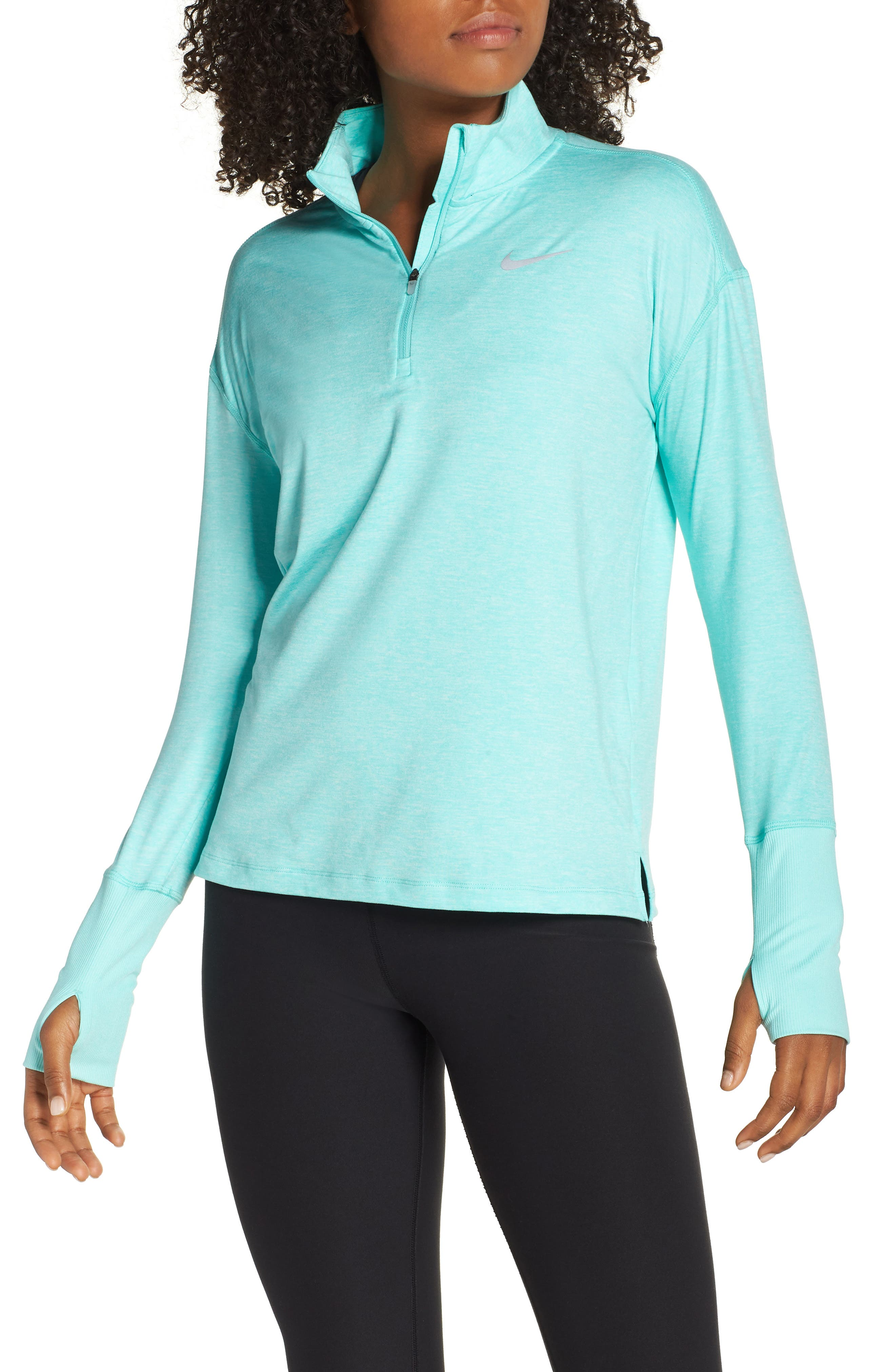Element Long-Sleeve Running Top,                             Main thumbnail 1, color,                             TROPICAL TWIST/ TEAL TINT