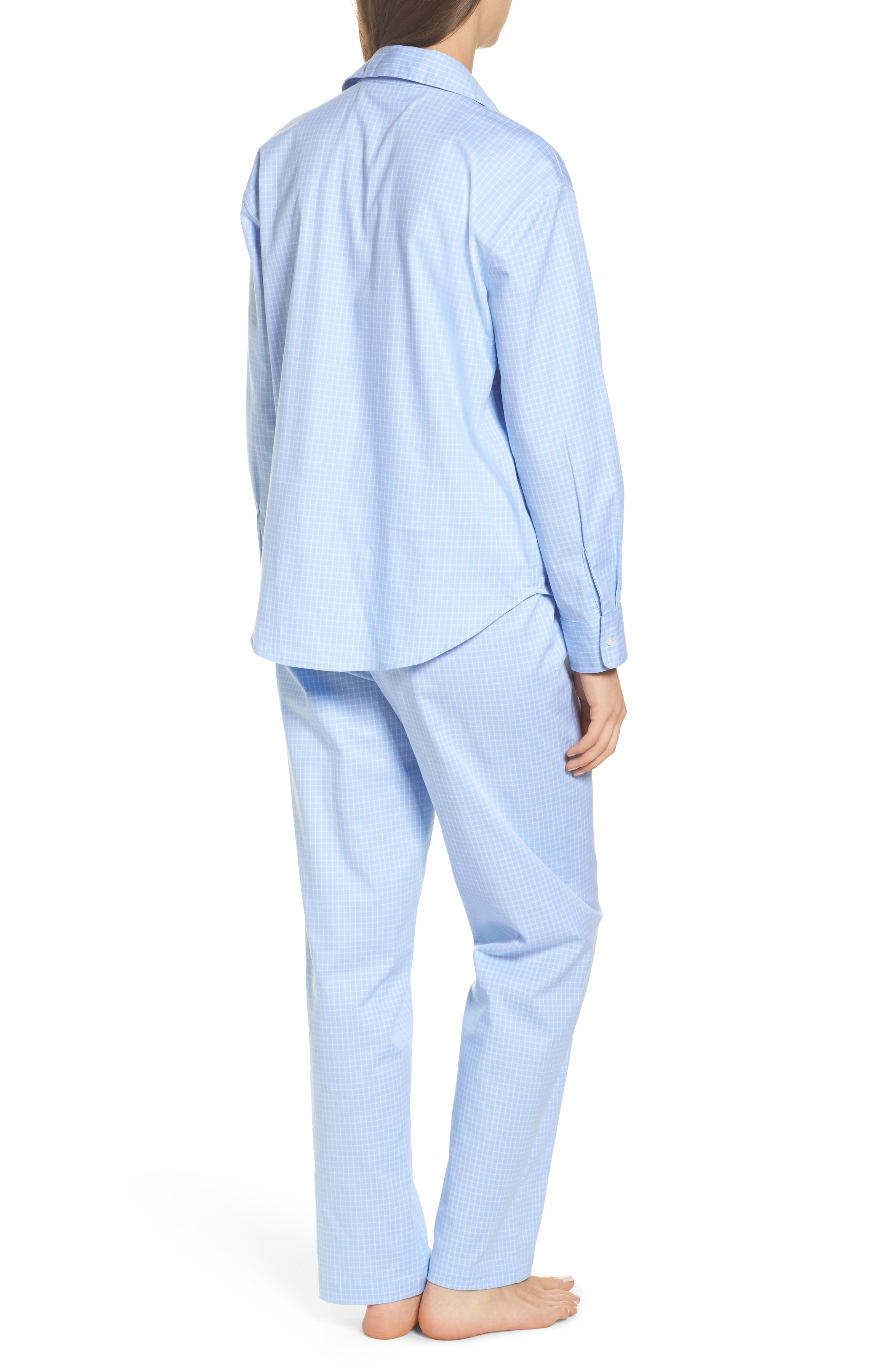 Stretch Cotton Pajamas,                             Alternate thumbnail 2, color,