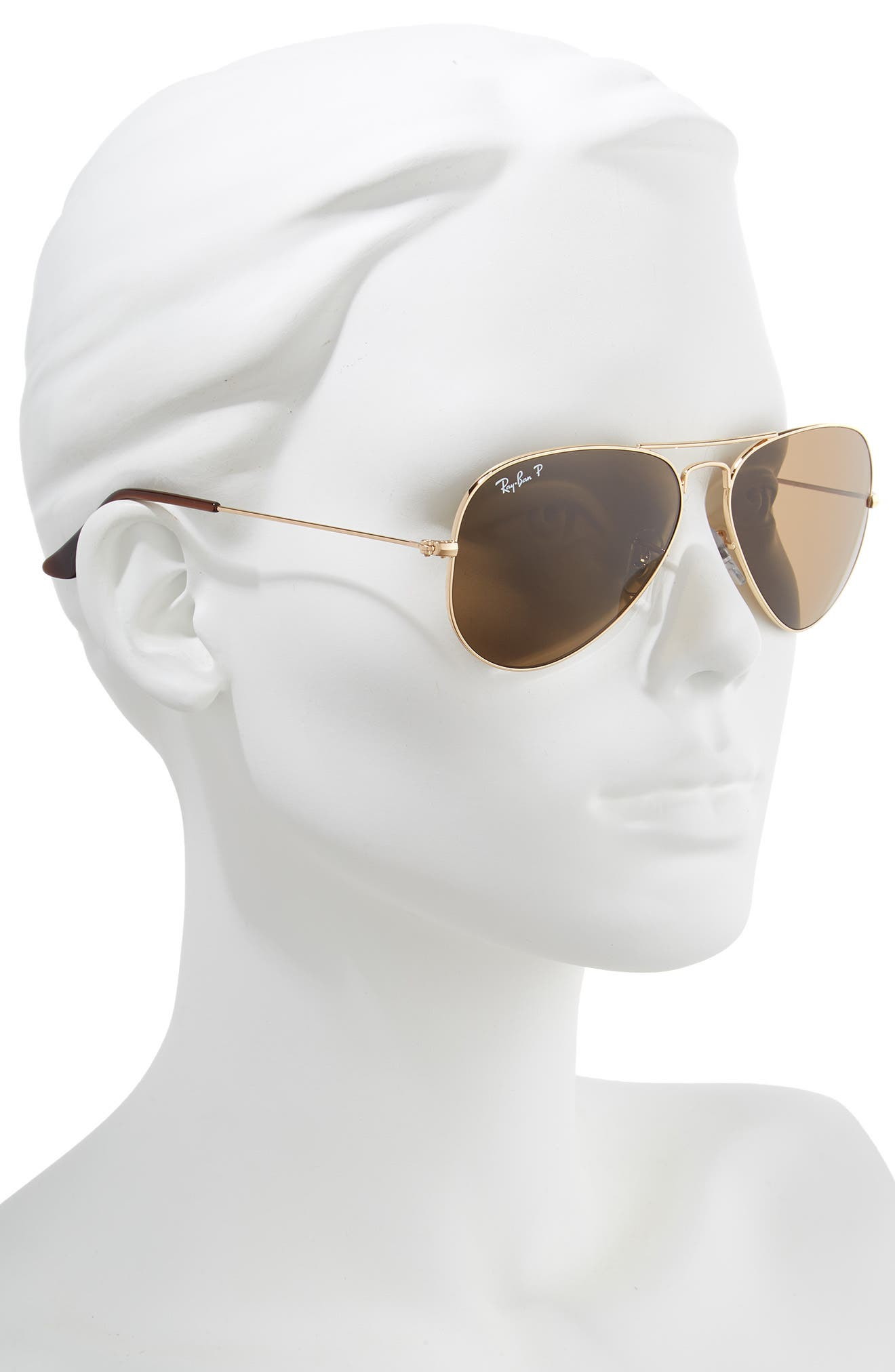 Original 58mm Aviator Sunglasses,                             Alternate thumbnail 2, color,                             GOLD/ BROWN SOLID
