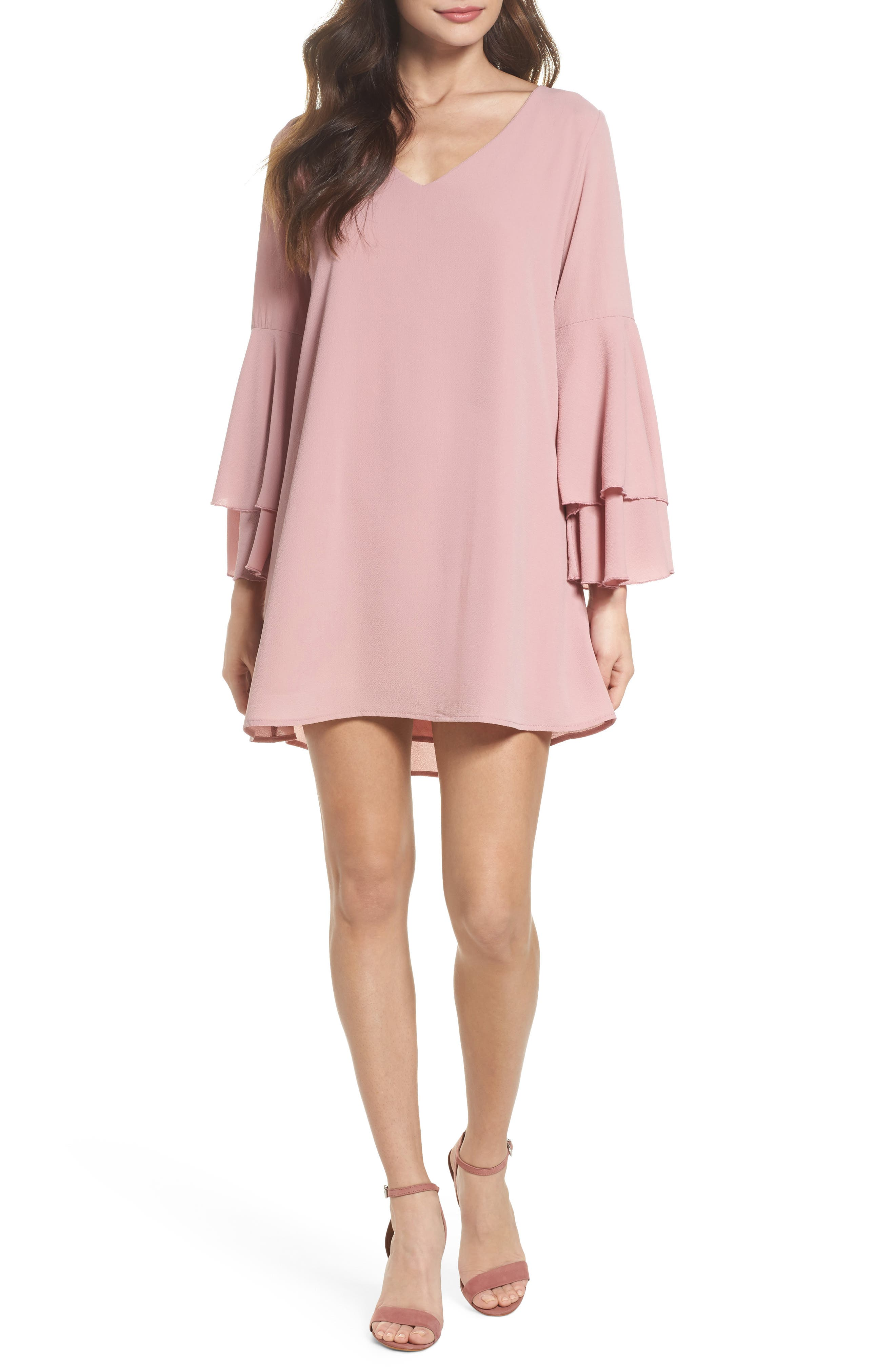 Bell Sleeve Dress,                             Main thumbnail 1, color,                             681