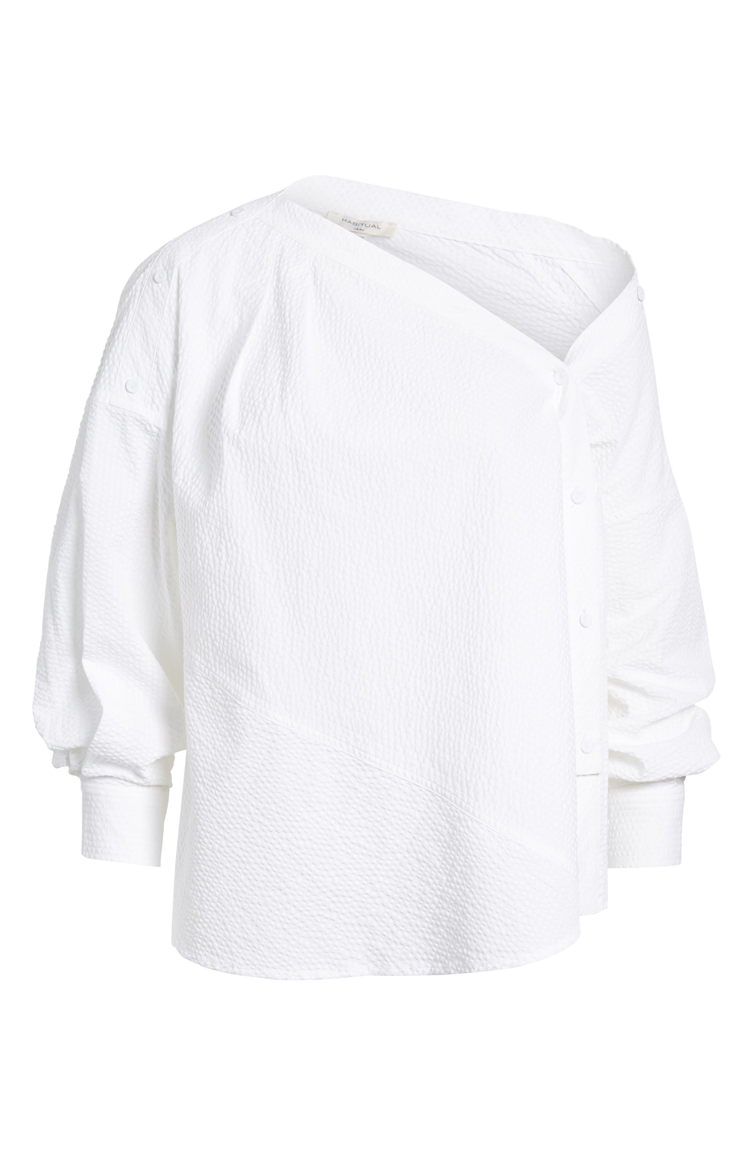 Daphne One Shoulder Cotton Top,                             Alternate thumbnail 7, color,                             150