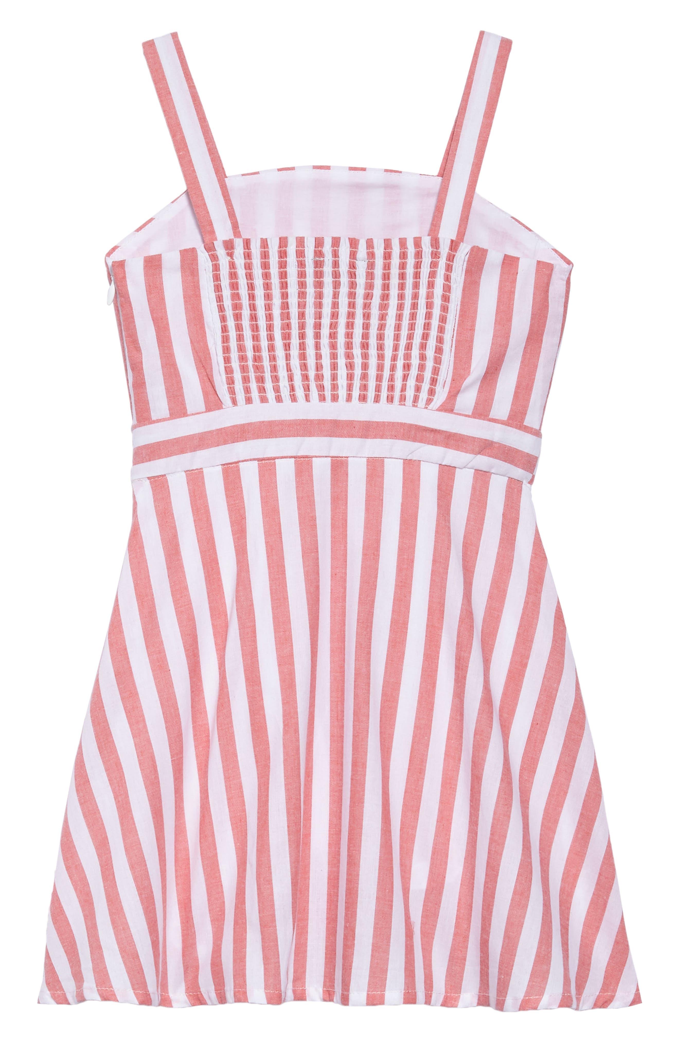 Mable Stripe Dress,                             Alternate thumbnail 2, color,                             600