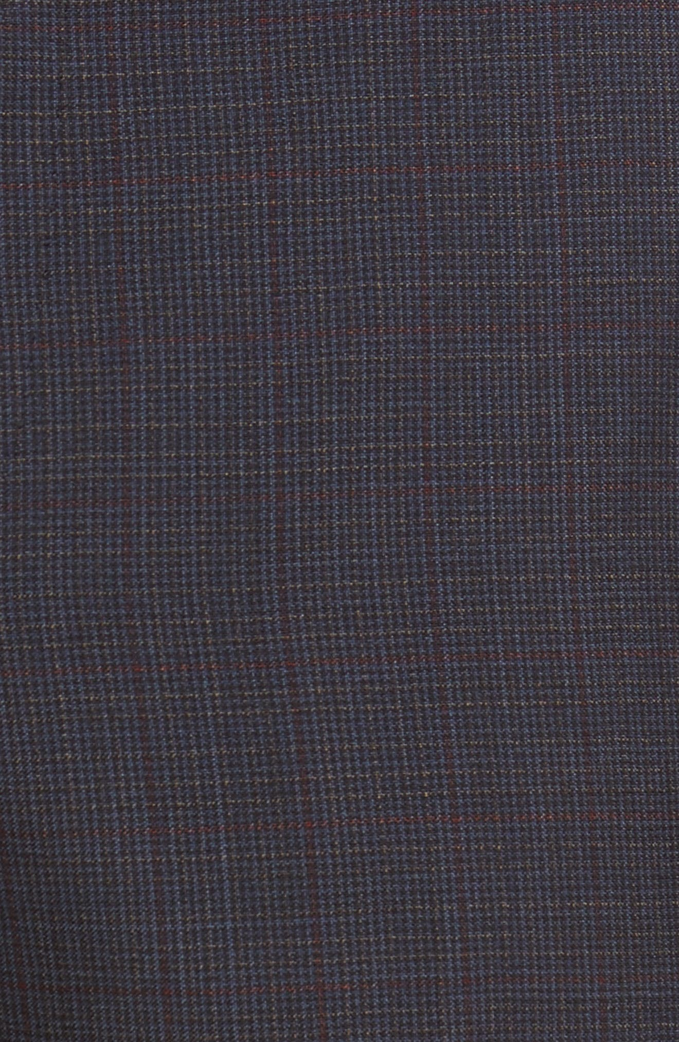 Benso Flat Front Houndstooth Wool Trousers,                             Alternate thumbnail 2, color,                             410