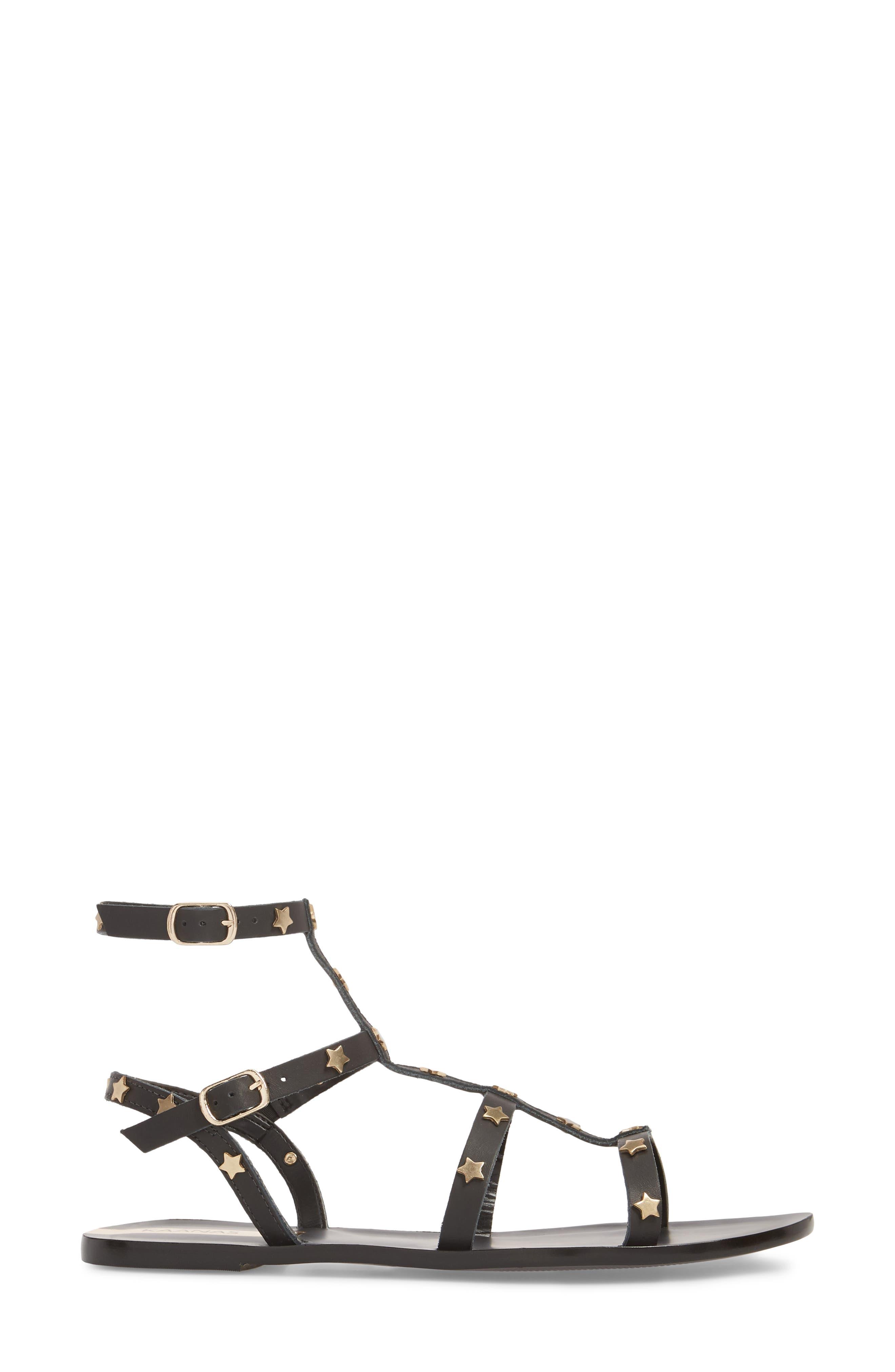KAANAS,                             Lapa Gladiator Sandal,                             Alternate thumbnail 3, color,                             001