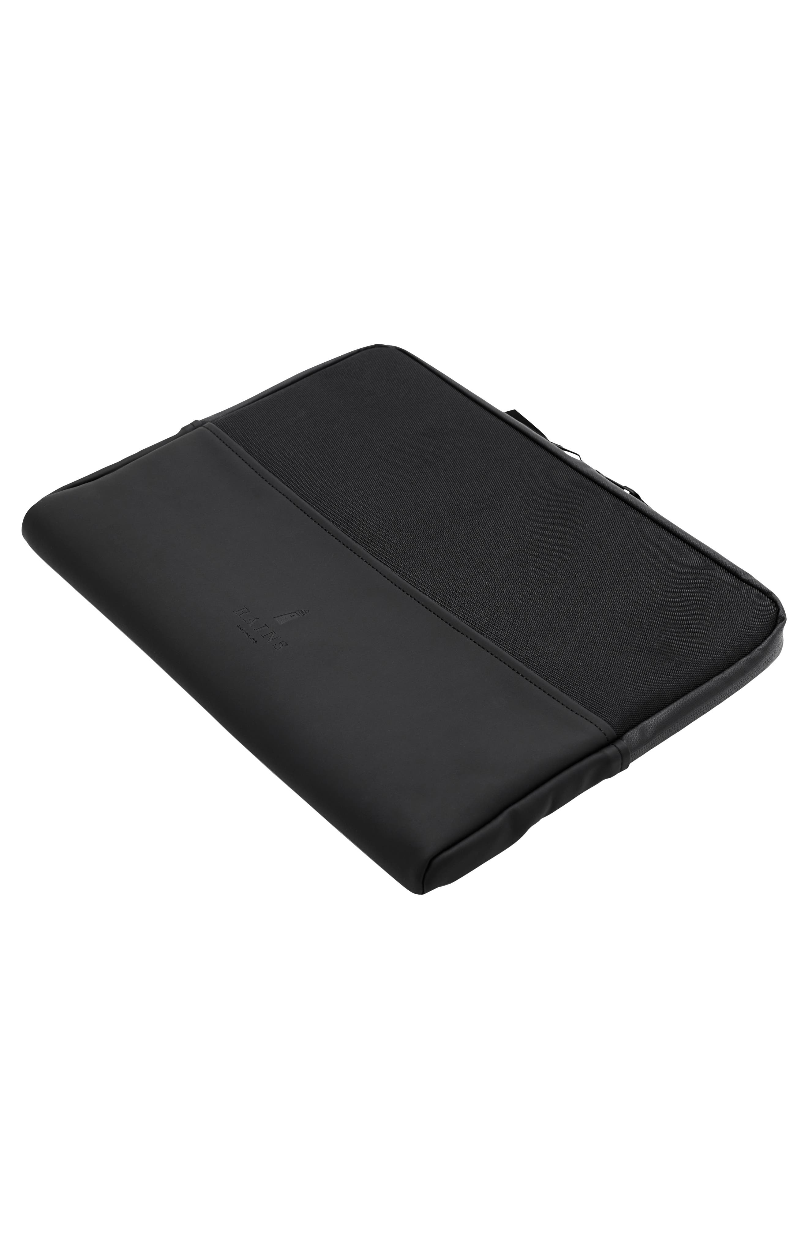 RAINS,                             13-Inch Laptop Sleeve,                             Alternate thumbnail 4, color,                             BLACK