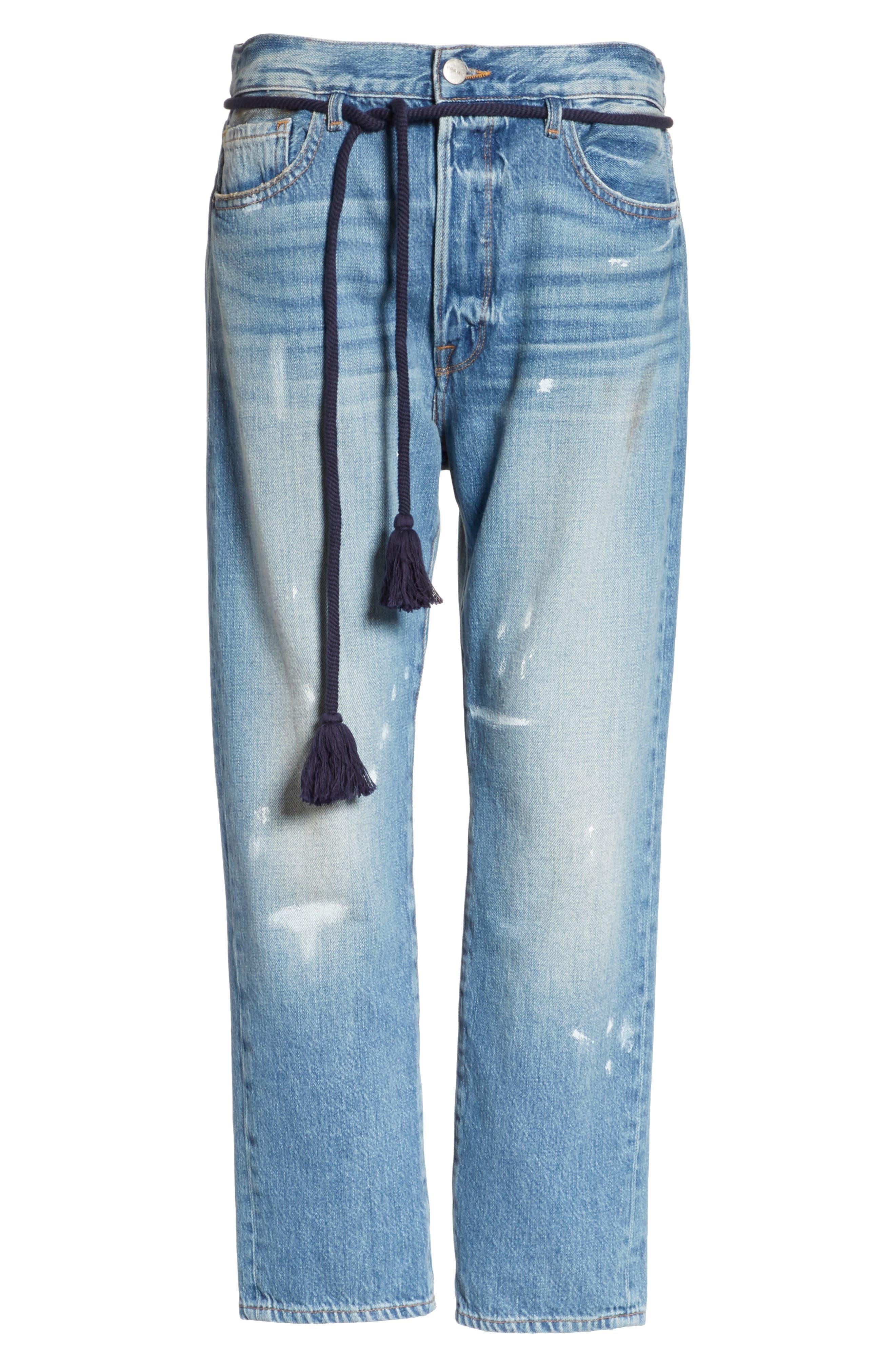 Le Original Tassel Tie High Waist Jeans,                             Alternate thumbnail 7, color,