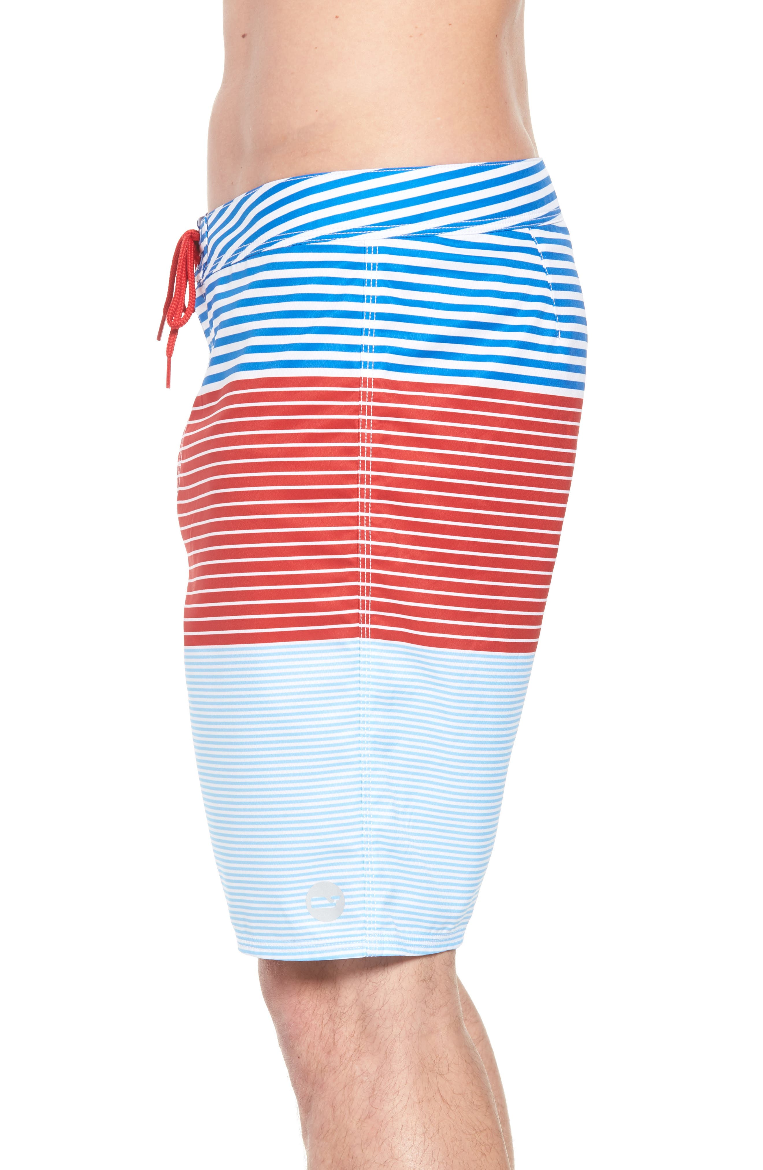 Whale Harbor Stripe Board Shorts,                             Alternate thumbnail 3, color,                             427