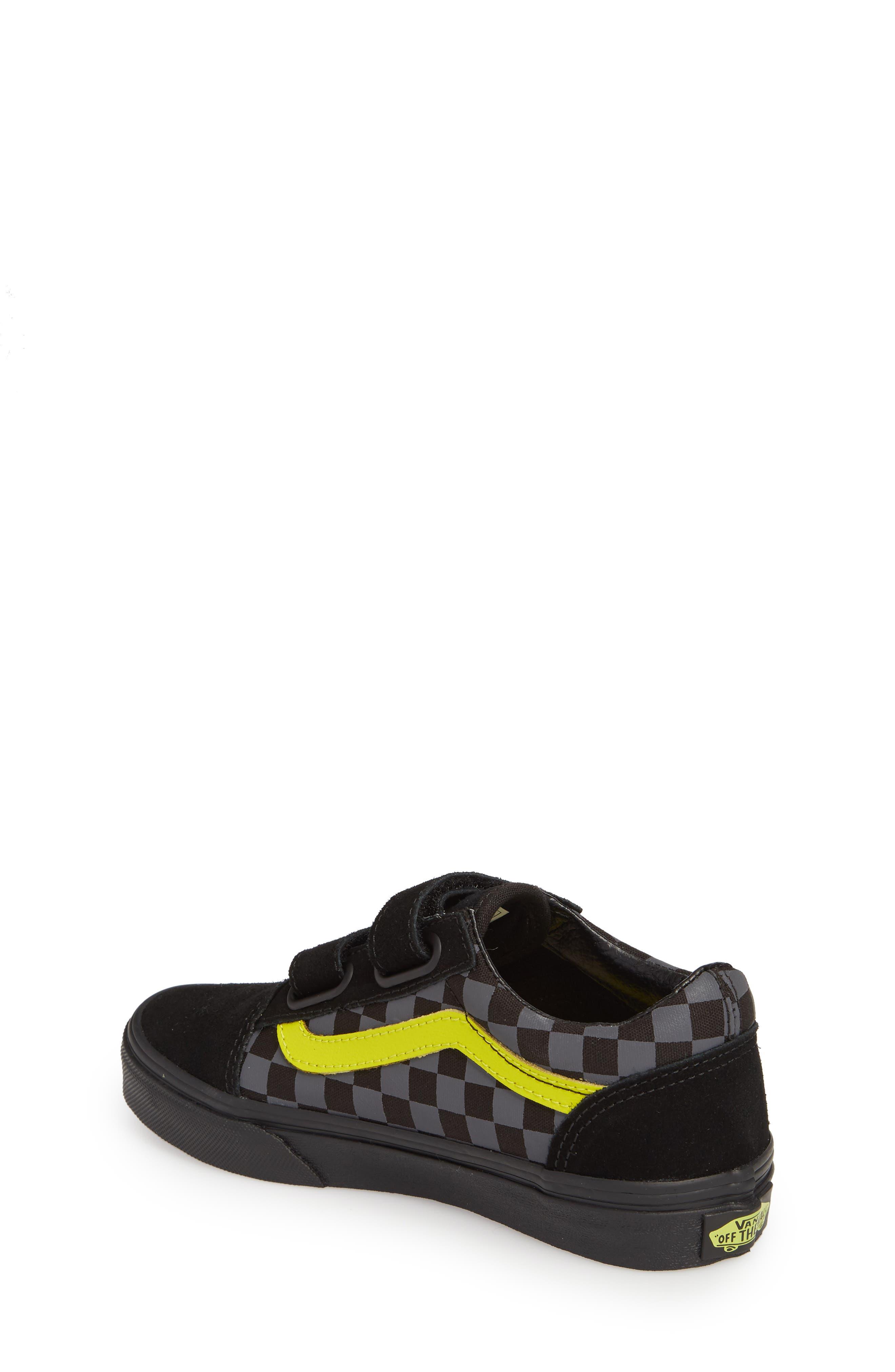 Reflective Checkerboard Old Skool V Sneaker,                             Alternate thumbnail 2, color,