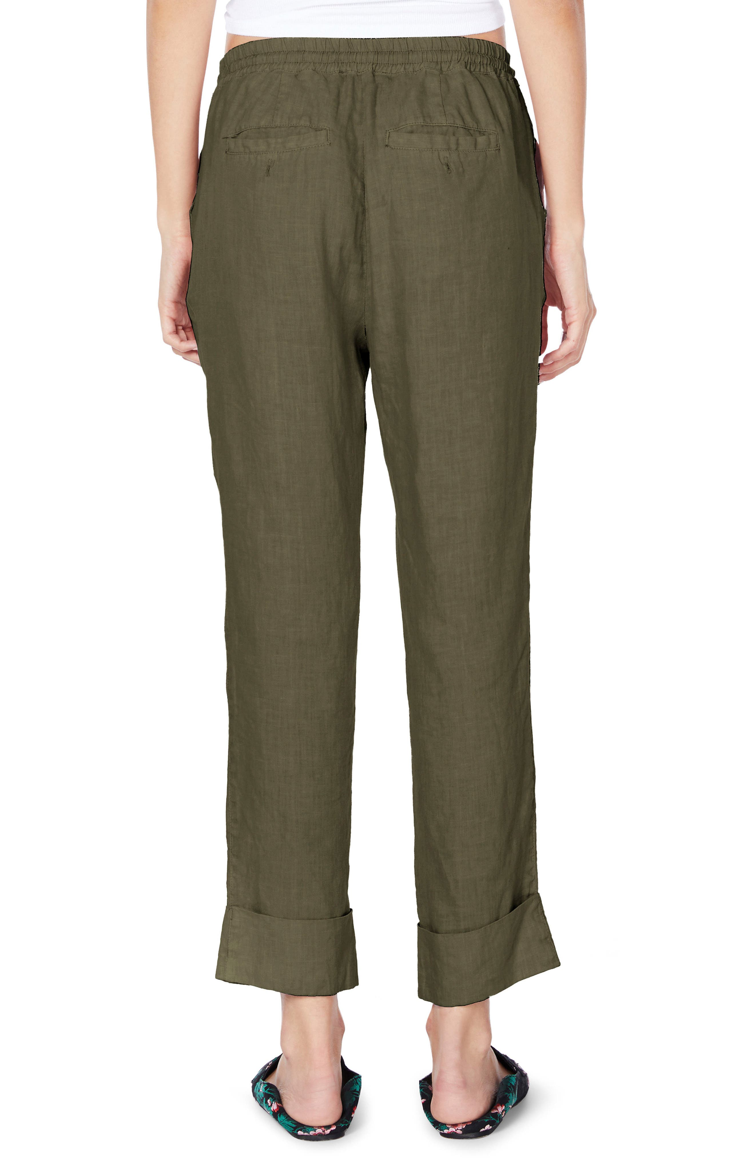 Cuffed Linen Pants,                             Alternate thumbnail 5, color,