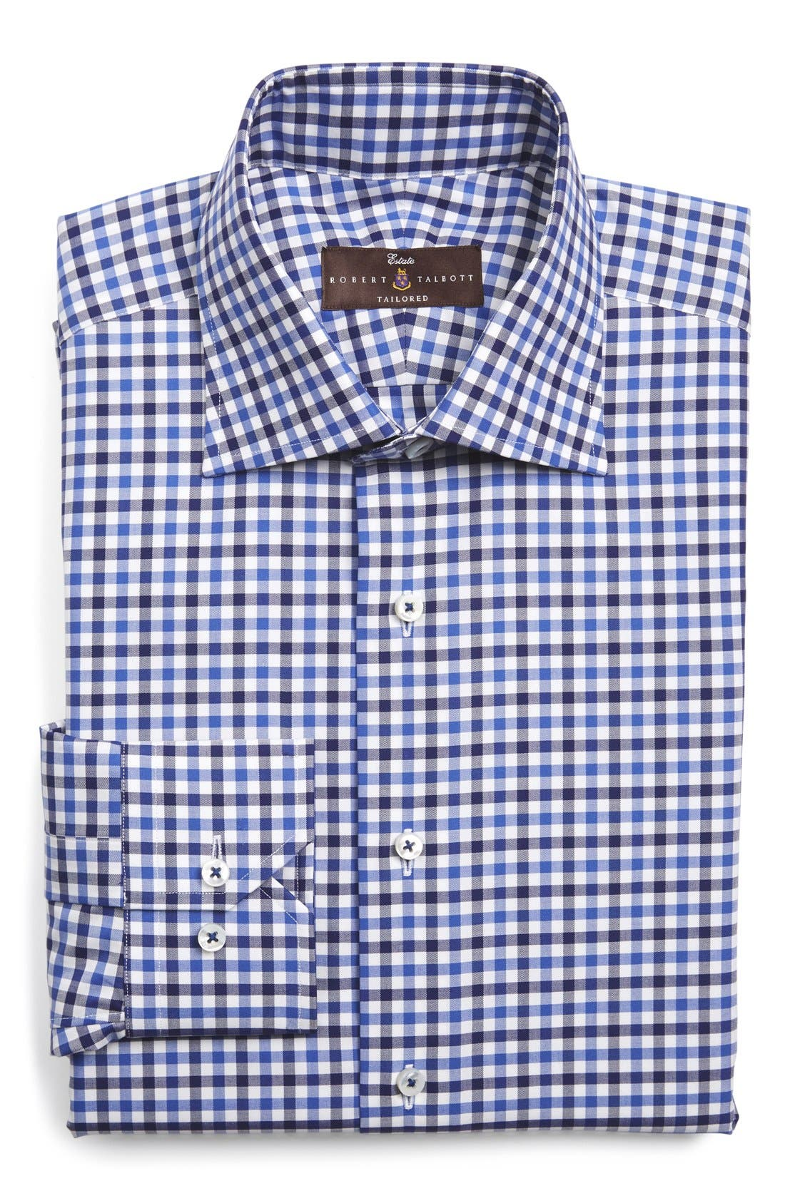 Tailored Fit Check Dress Shirt,                         Main,                         color,