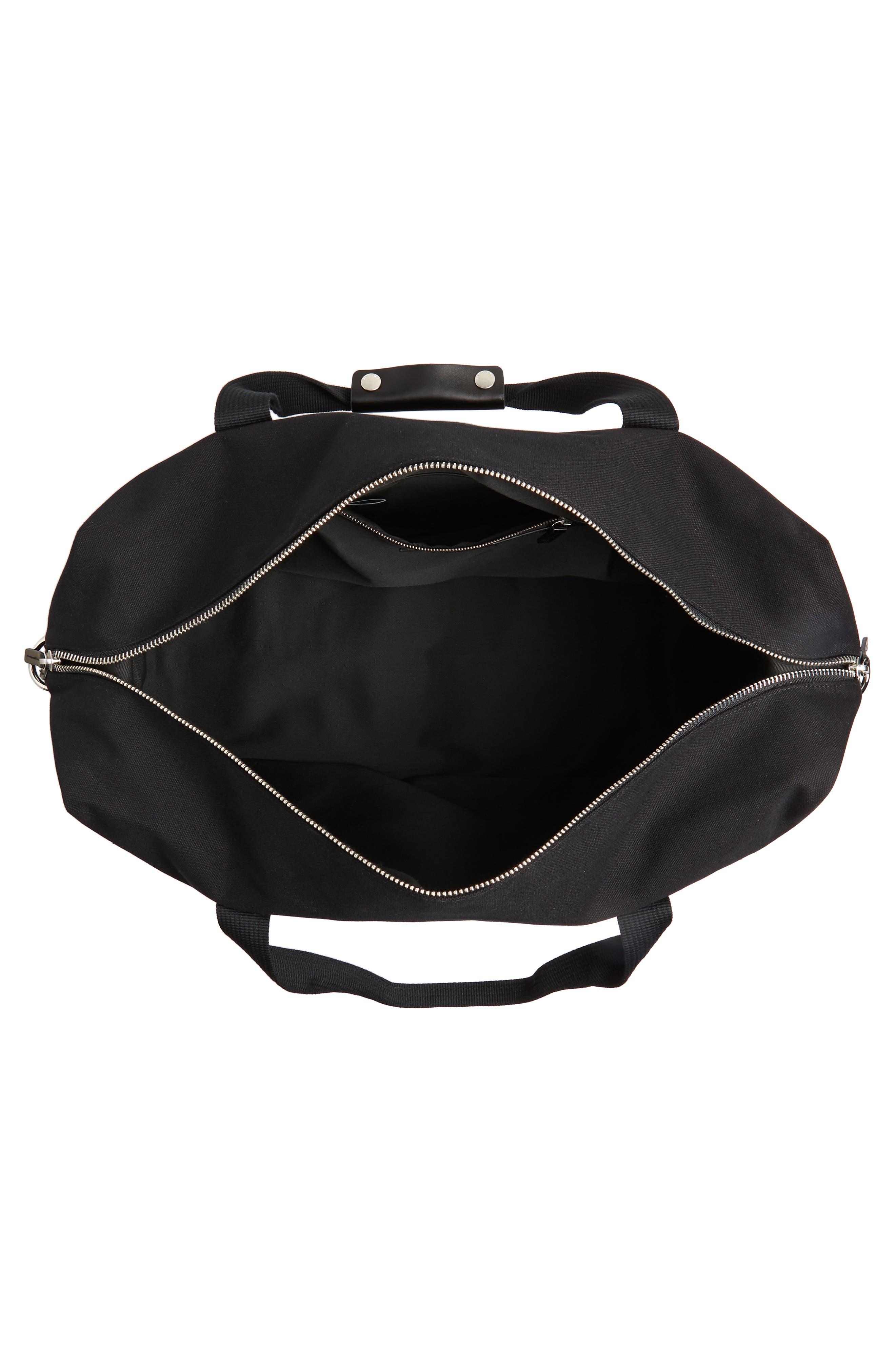 Norfolk Water Repellent Duffel Bag,                             Alternate thumbnail 4, color,                             BLACK