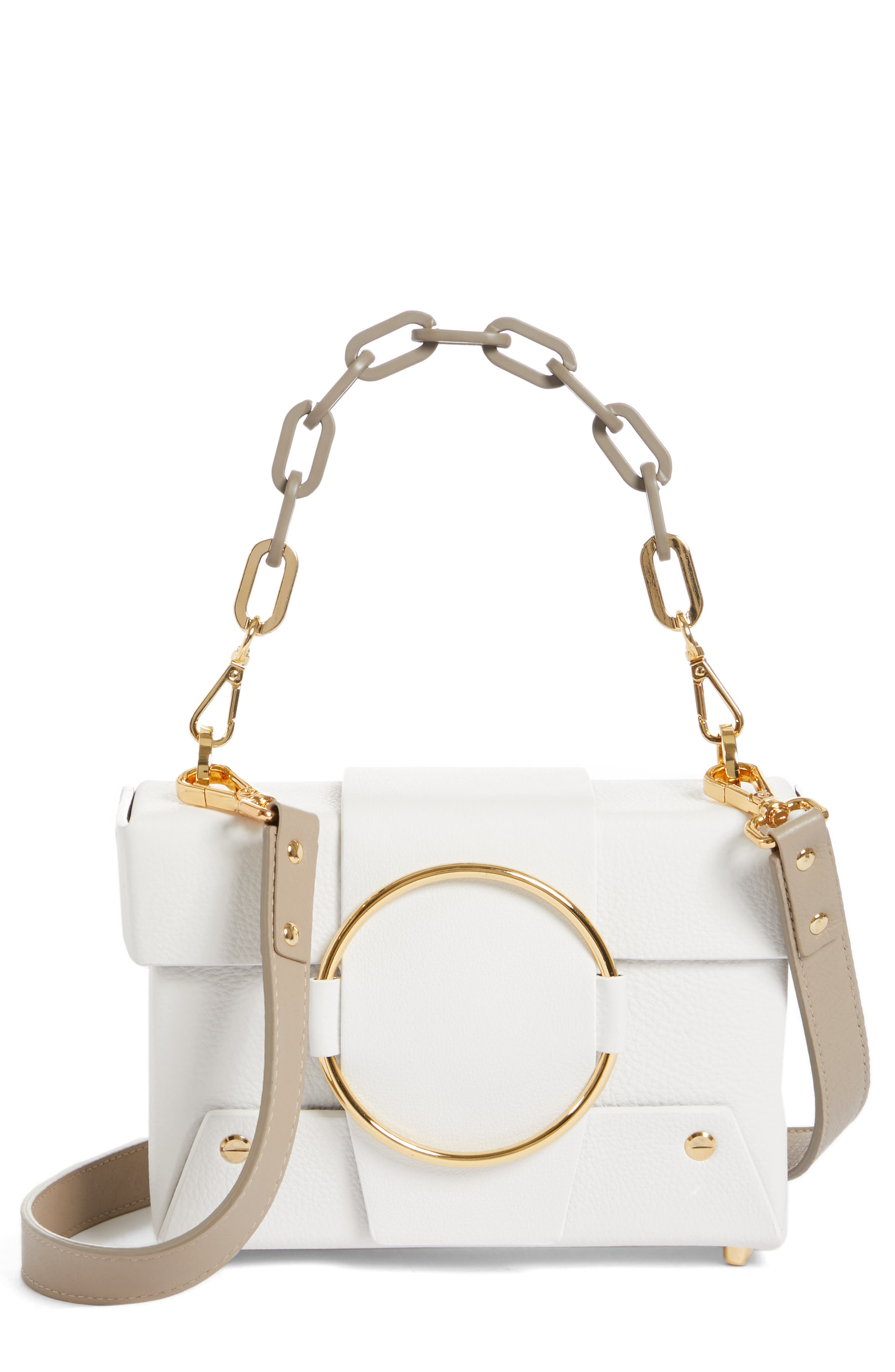 YUZEFI Asher Convertible Crossbody Bag - White in Bianco/ Kaky