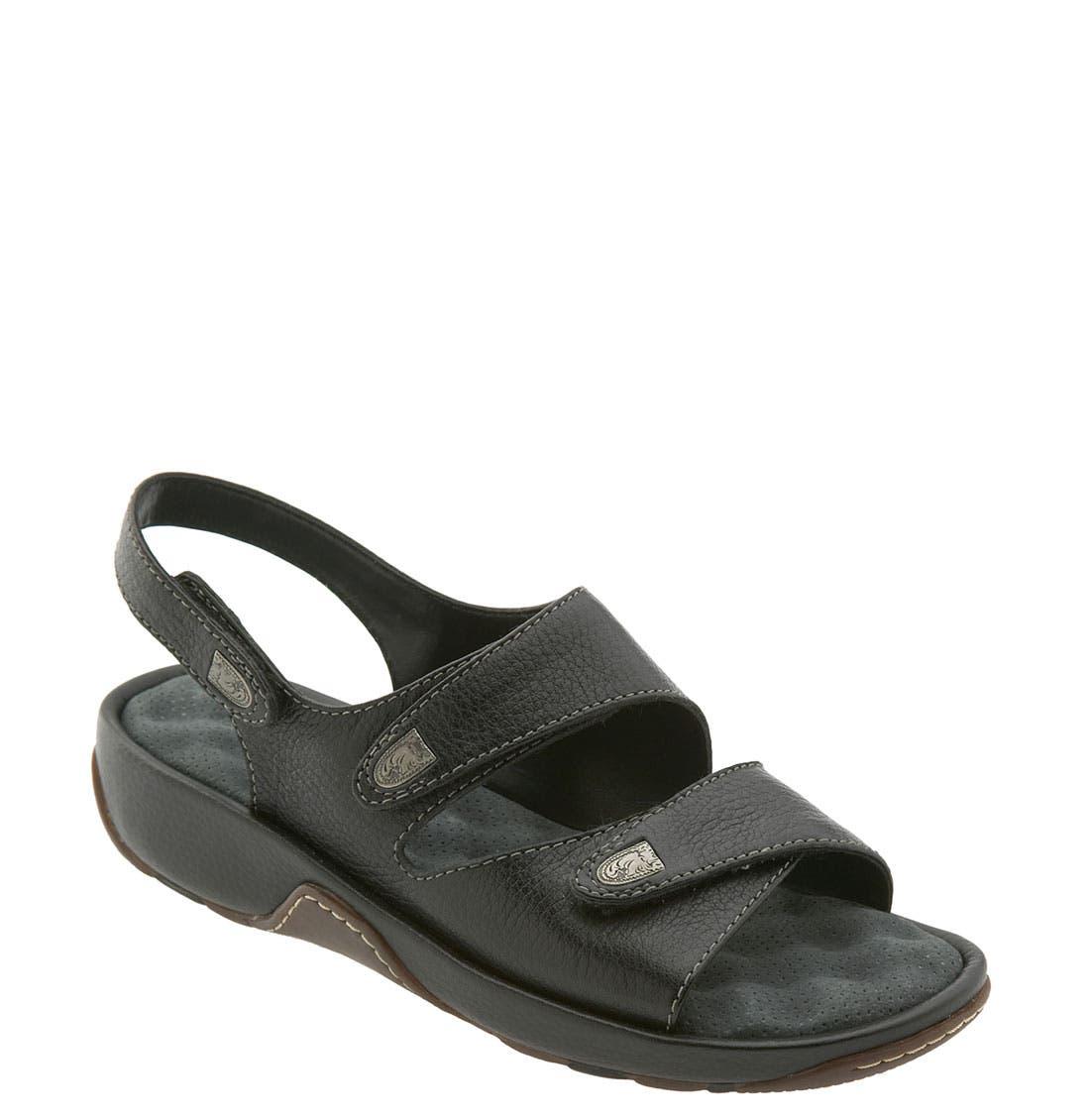 'Bolivia' Sandal,                             Main thumbnail 1, color,                             BLACK