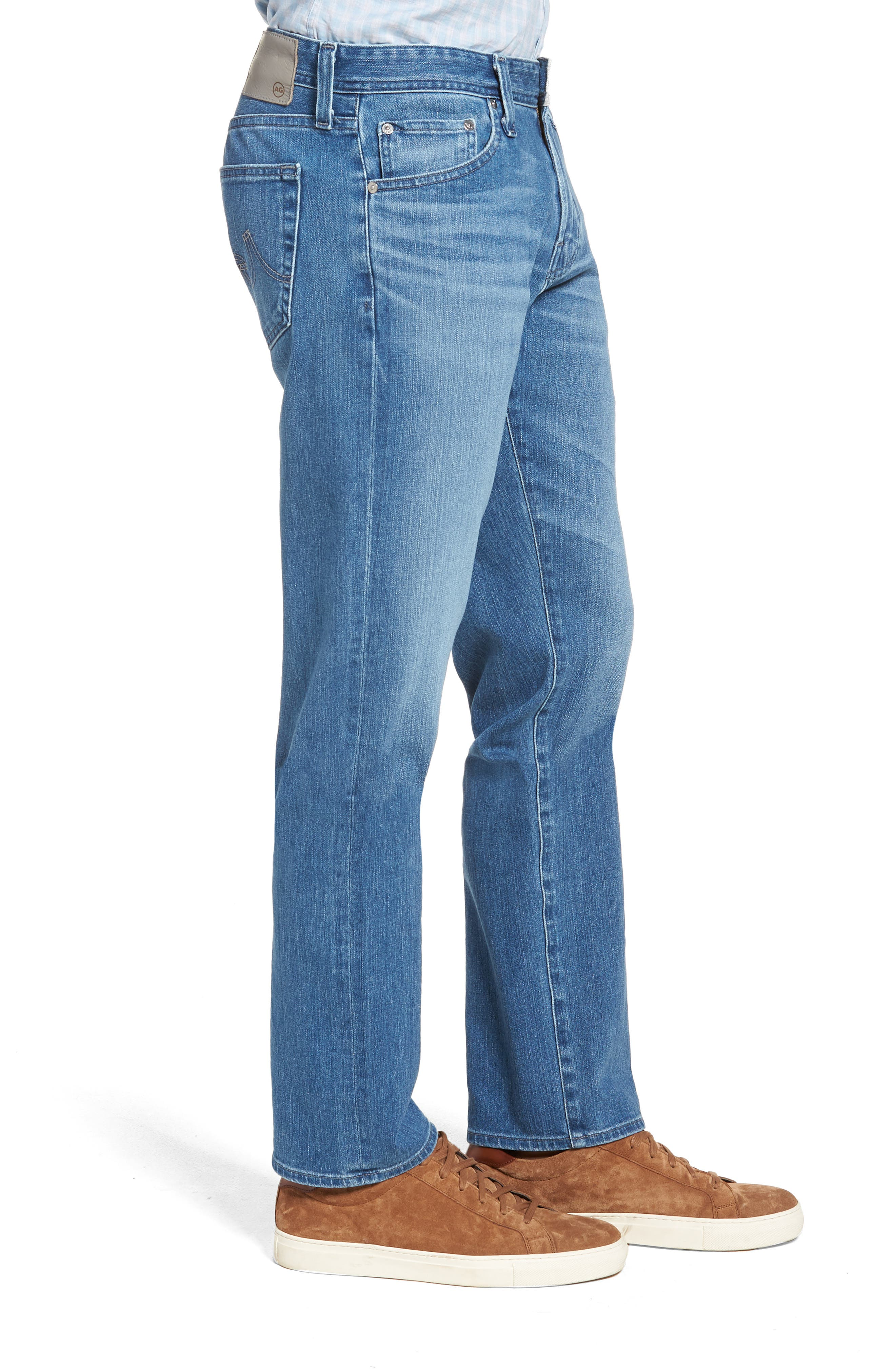 Graduate Slim Straight Leg Jeans,                             Alternate thumbnail 3, color,                             DEMOLITION