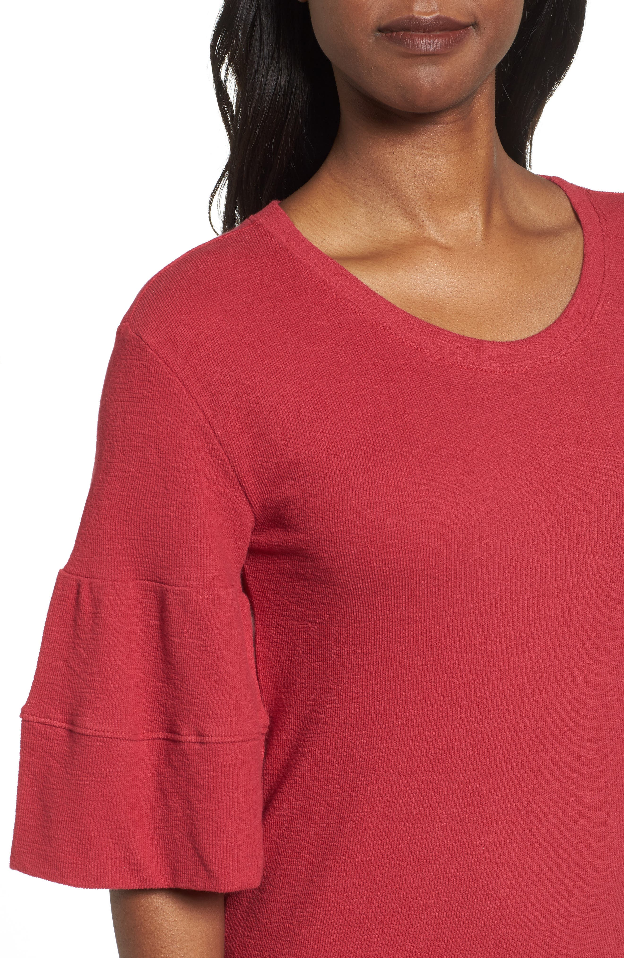 Ruffle Sleeve Knit Dress,                             Alternate thumbnail 12, color,