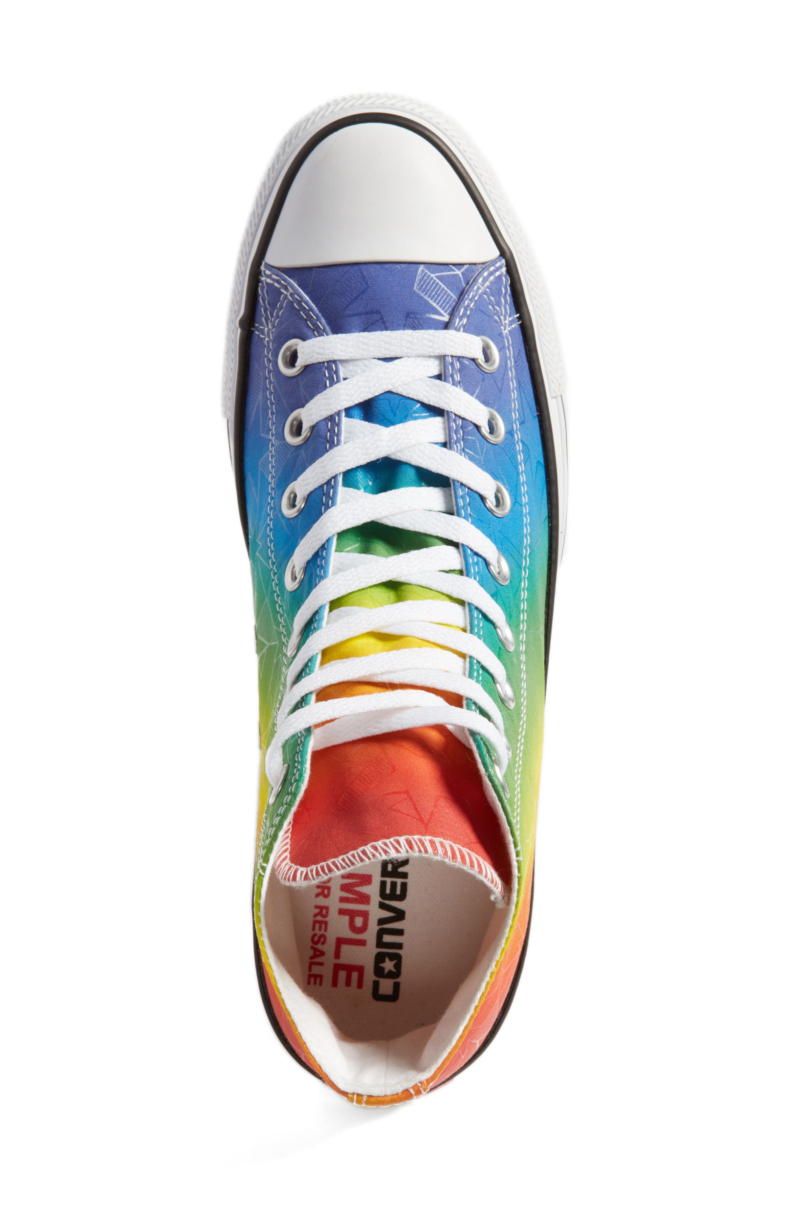 Chuck Taylor<sup>®</sup> All Star<sup>®</sup> Pride High Top Sneaker,                             Alternate thumbnail 5, color,                             500