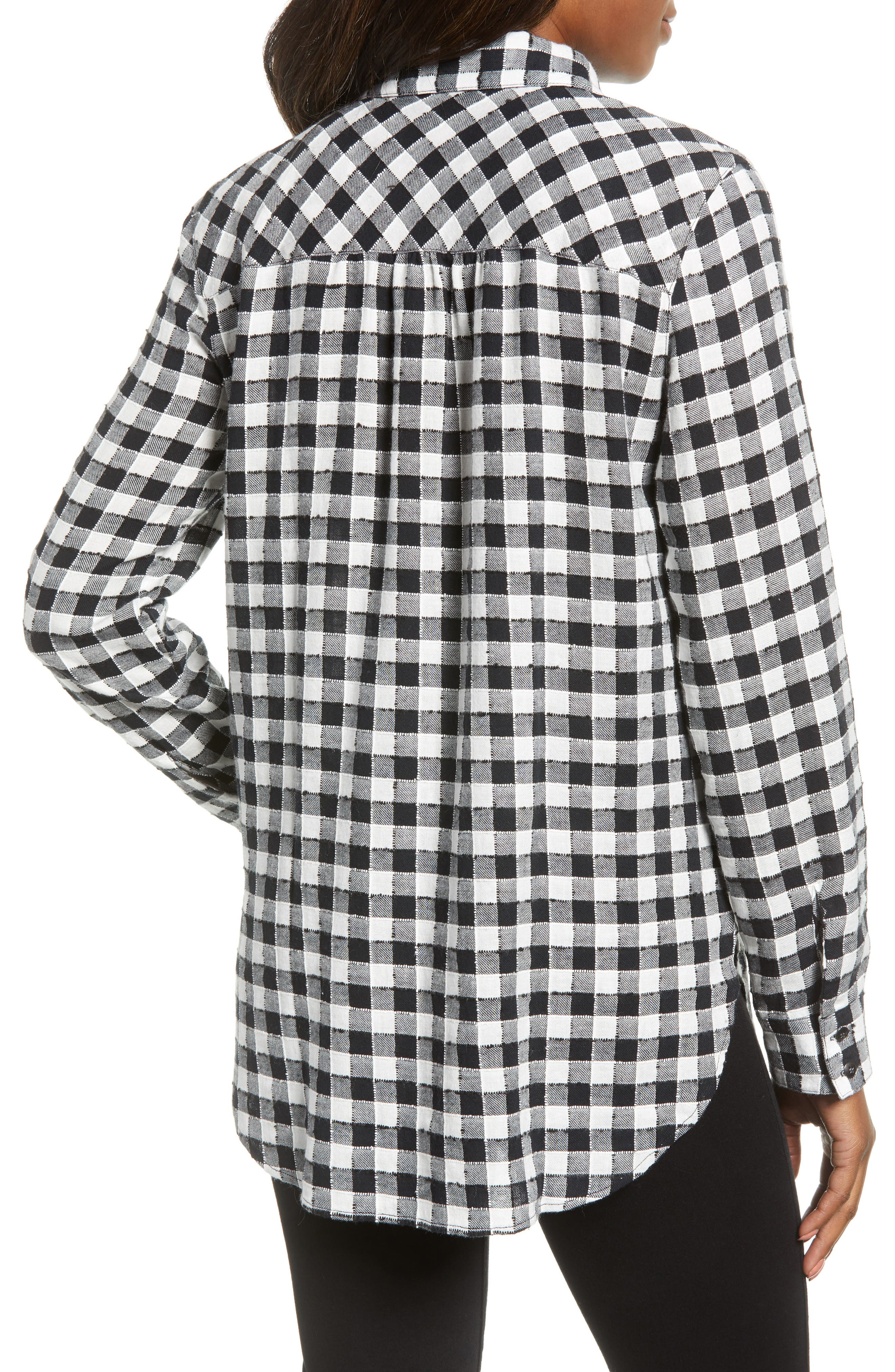 Checkered Button Down Shirt,                             Alternate thumbnail 2, color,                             001