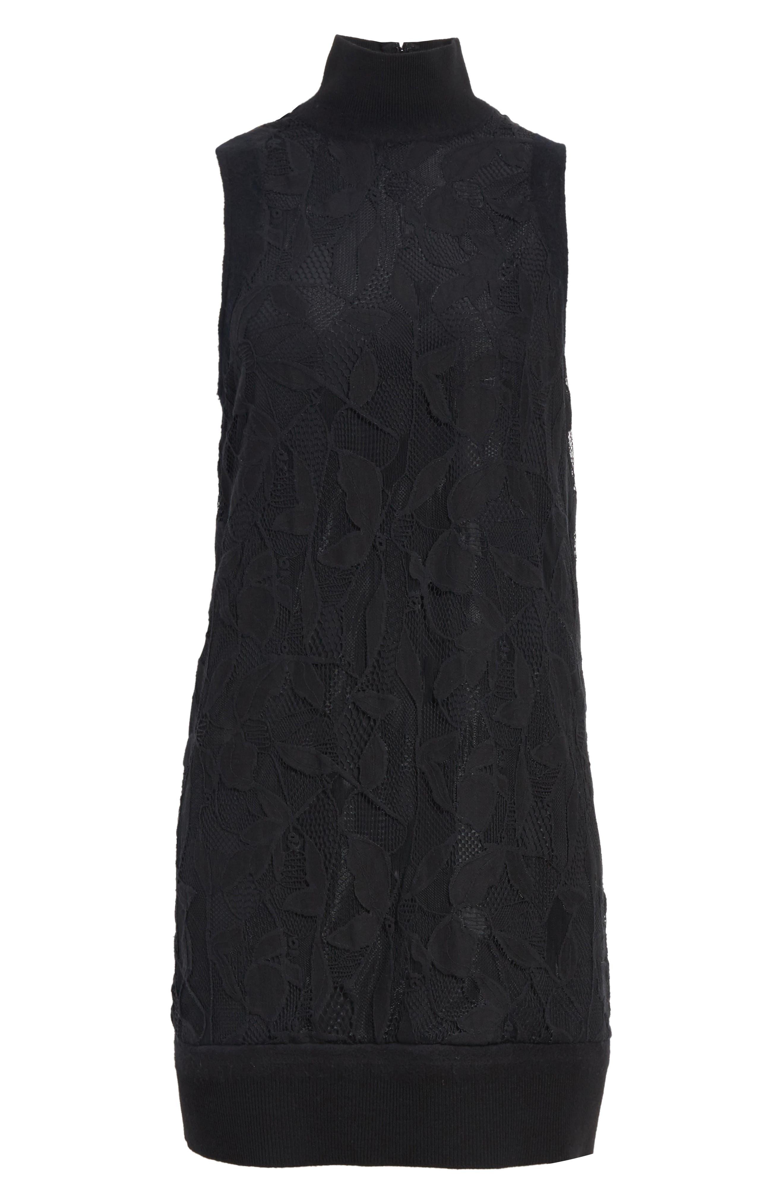 Sofiya Lace Dress,                             Alternate thumbnail 6, color,                             001