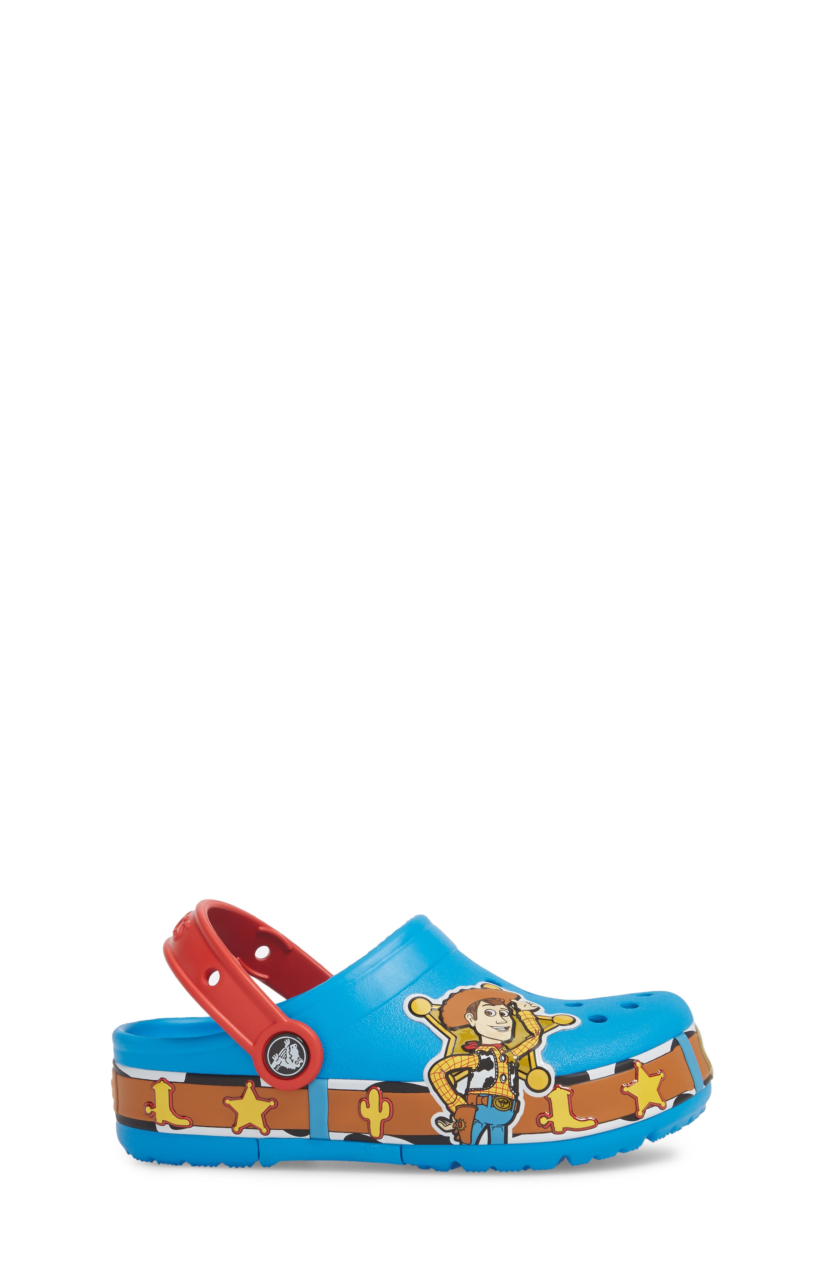 Disney Toy Story - Woody Crocband Light-Up Slip-On,                             Alternate thumbnail 3, color,                             456