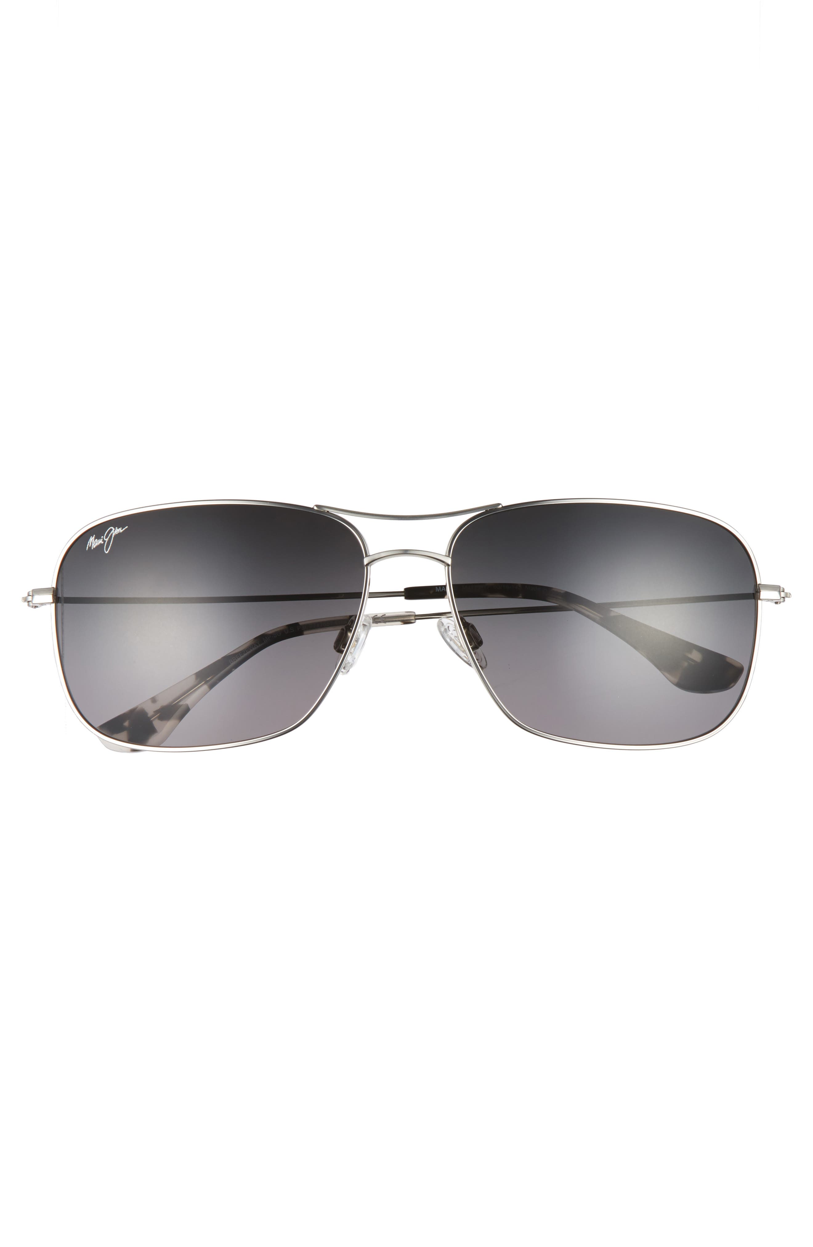 Breezeway 63mm PolarizedPlus2<sup>®</sup> Sunglasses,                             Alternate thumbnail 2, color,                             SILVER