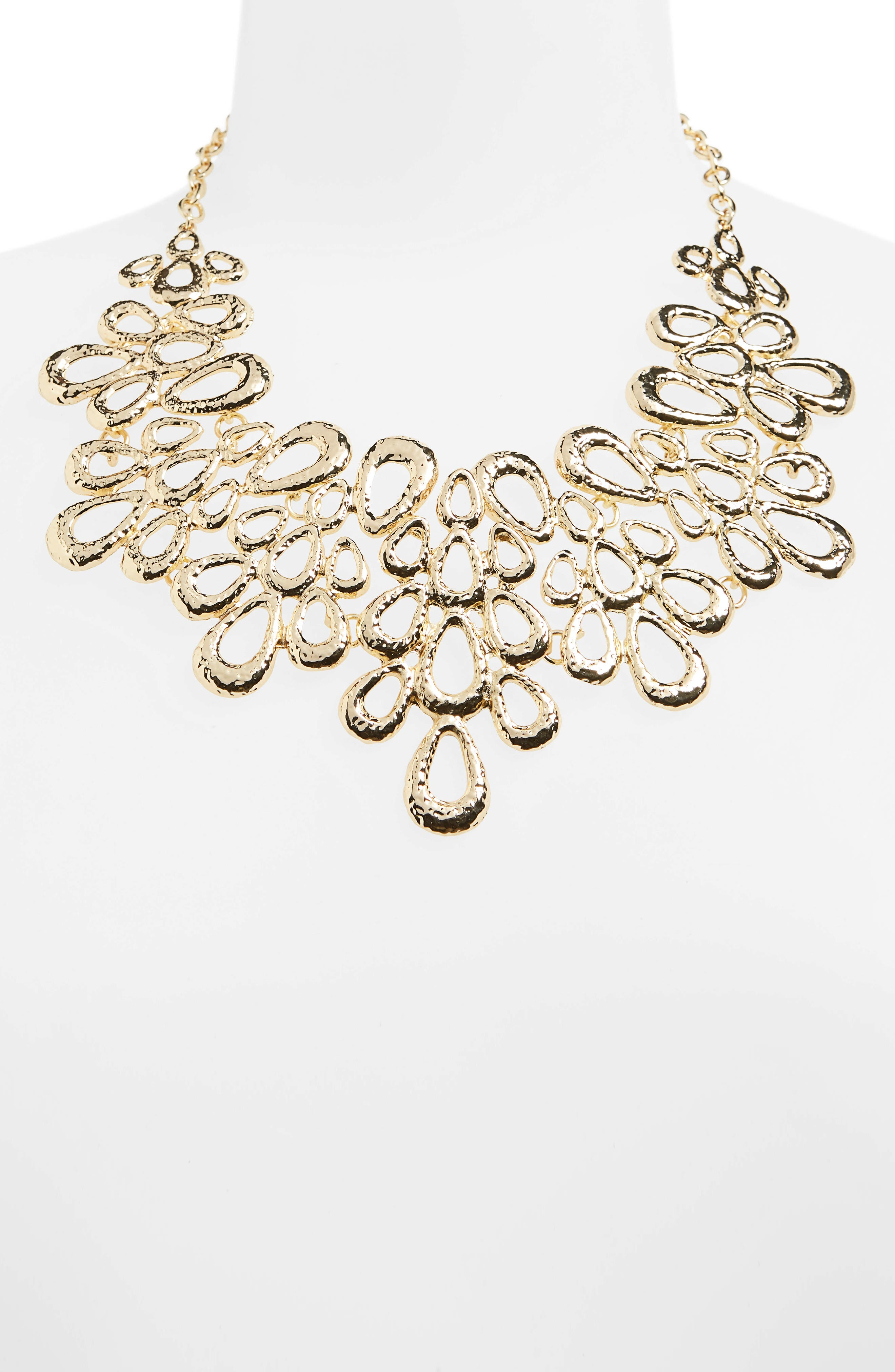 Petal Statement Necklace,                             Alternate thumbnail 2, color,