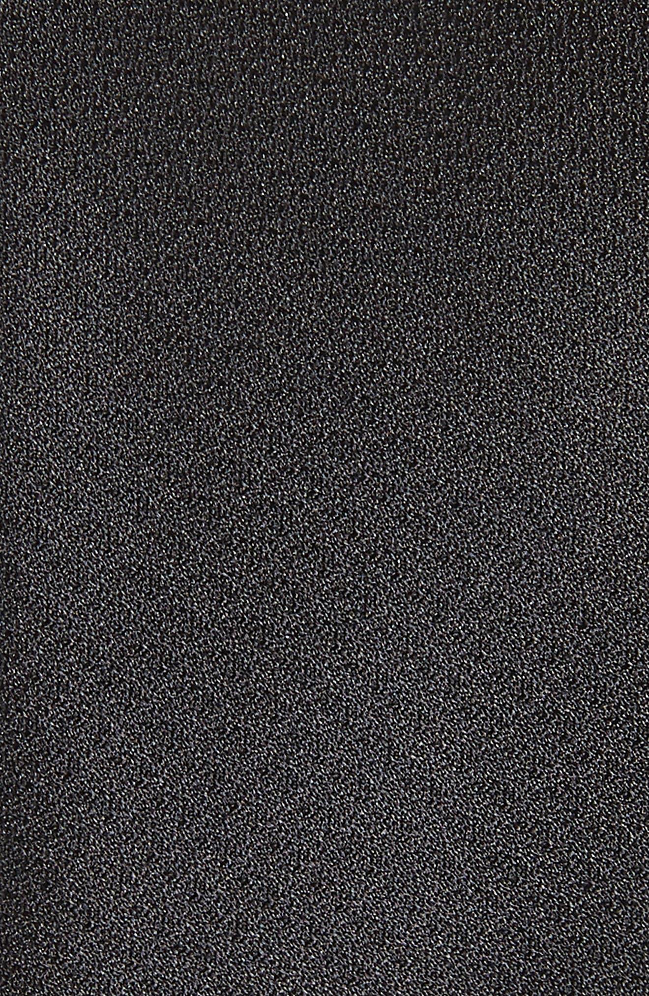 Clara Solid Silk Tie,                             Alternate thumbnail 2, color,                             BLACK