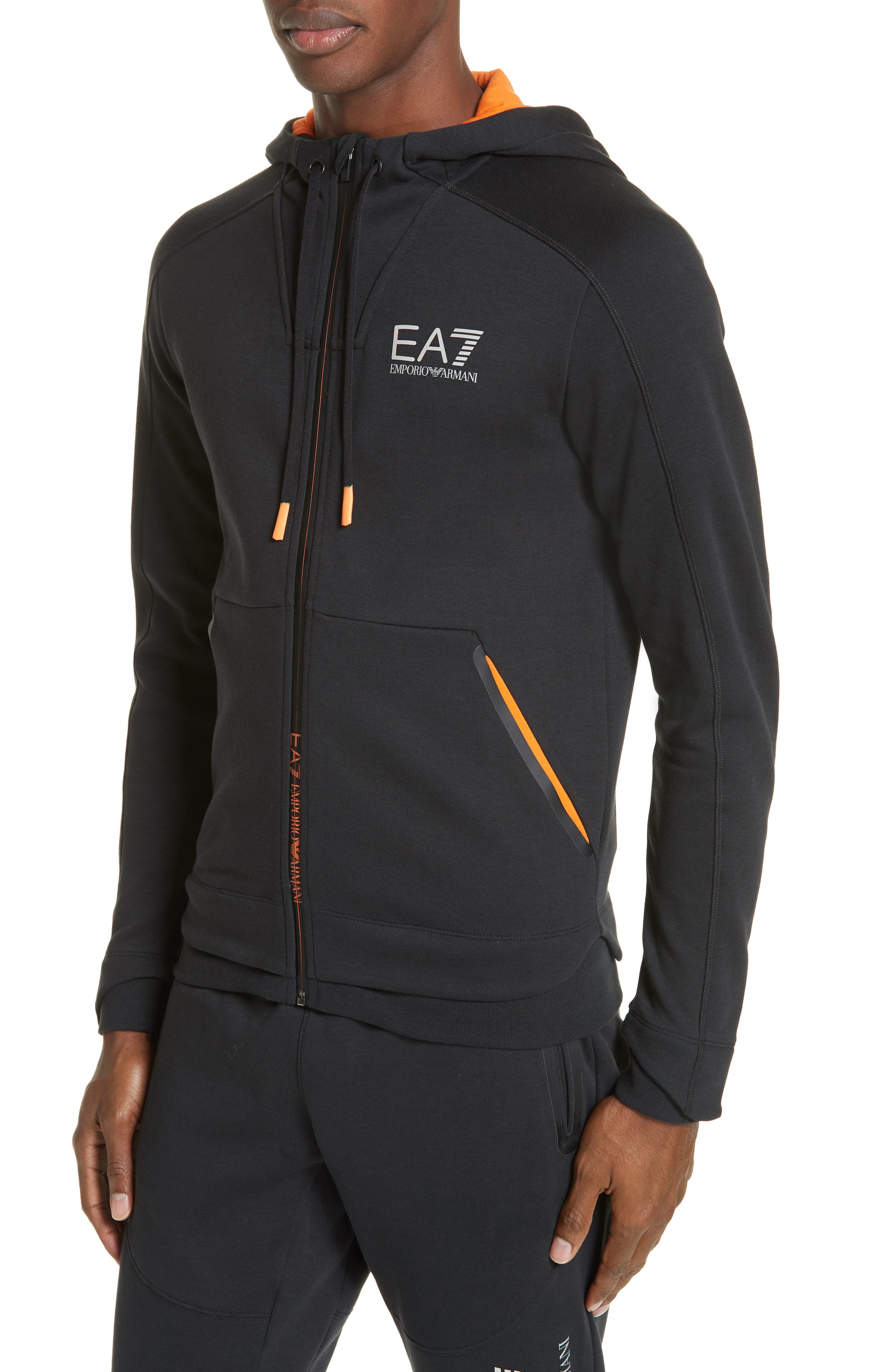 Ventus Zip Hoodie,                             Alternate thumbnail 4, color,                             BLACK