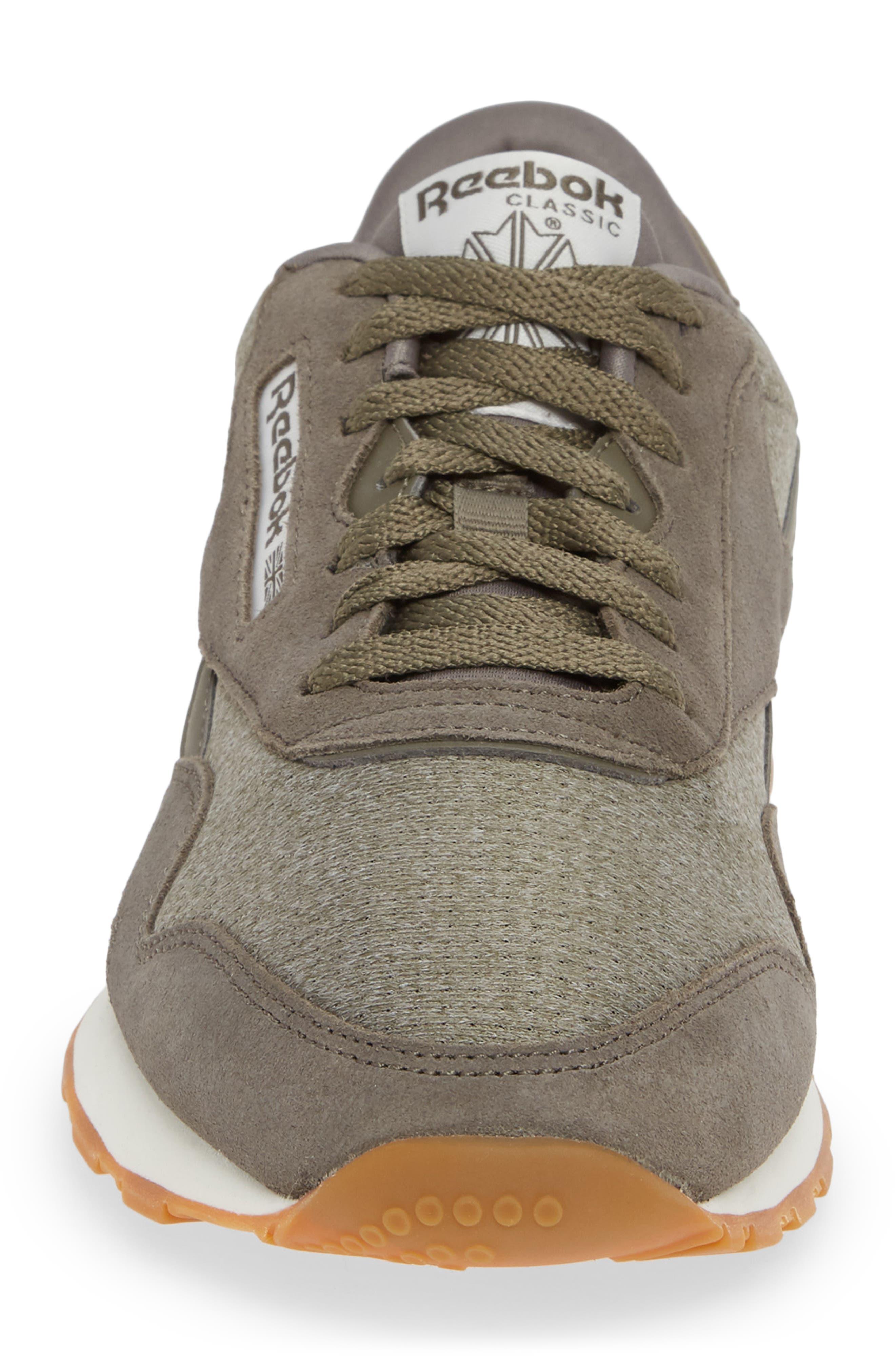Classic Leather Nylon SG Sneaker,                             Alternate thumbnail 4, color,                             TERRAIN GREY/ CHALK