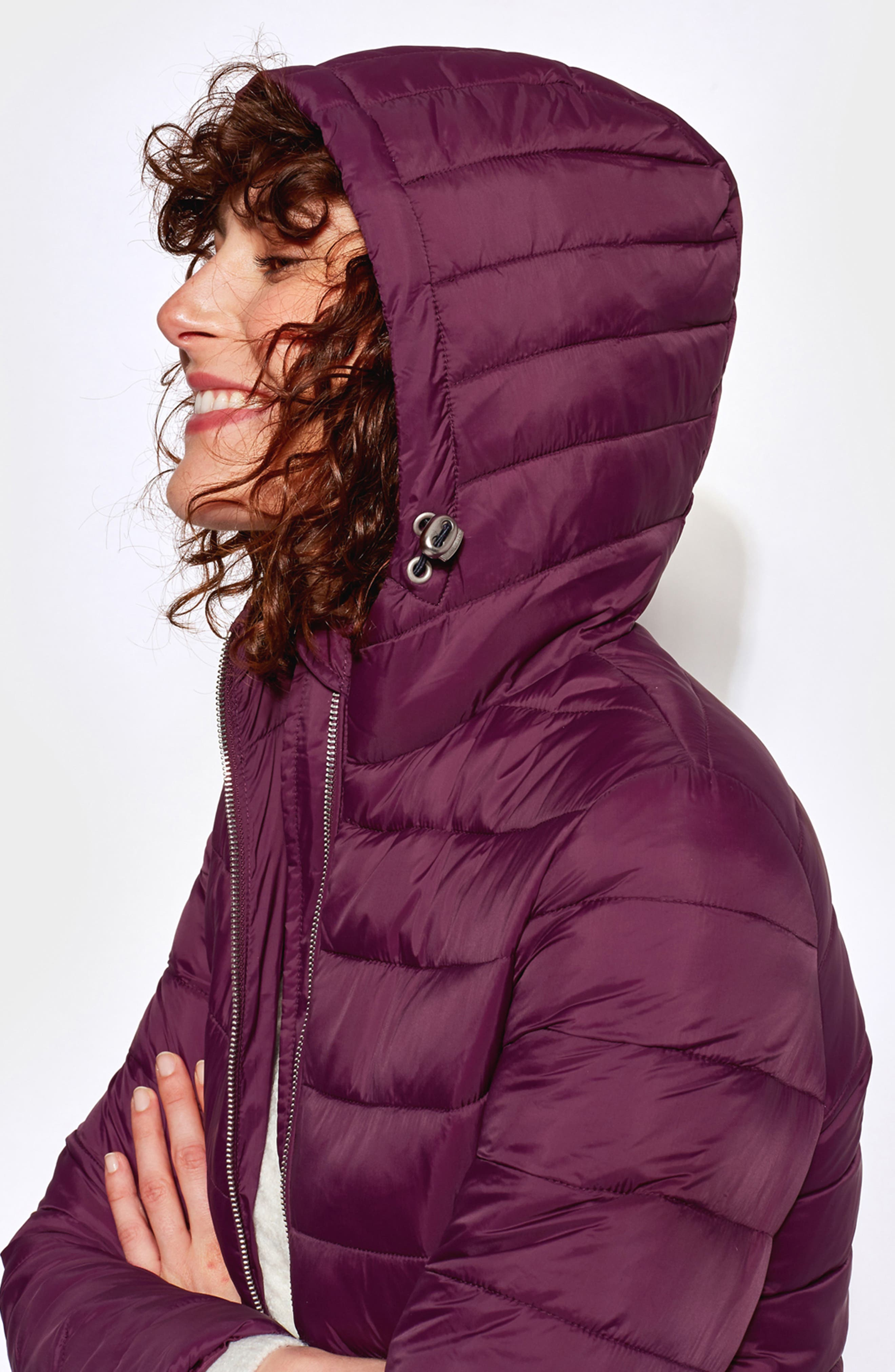 JOULES,                             Heathcote Two-Tone Puffer Jacket,                             Alternate thumbnail 12, color,                             BURGUNDY
