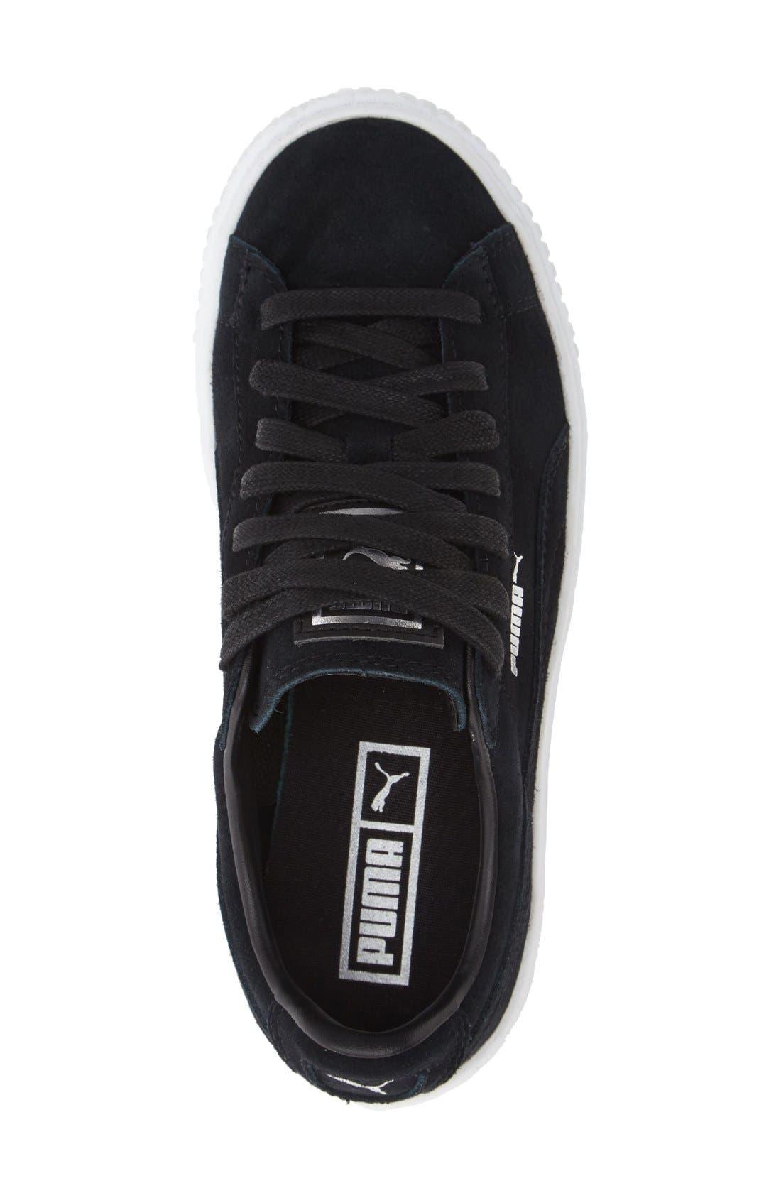 Suede Platform Sneaker,                             Alternate thumbnail 10, color,