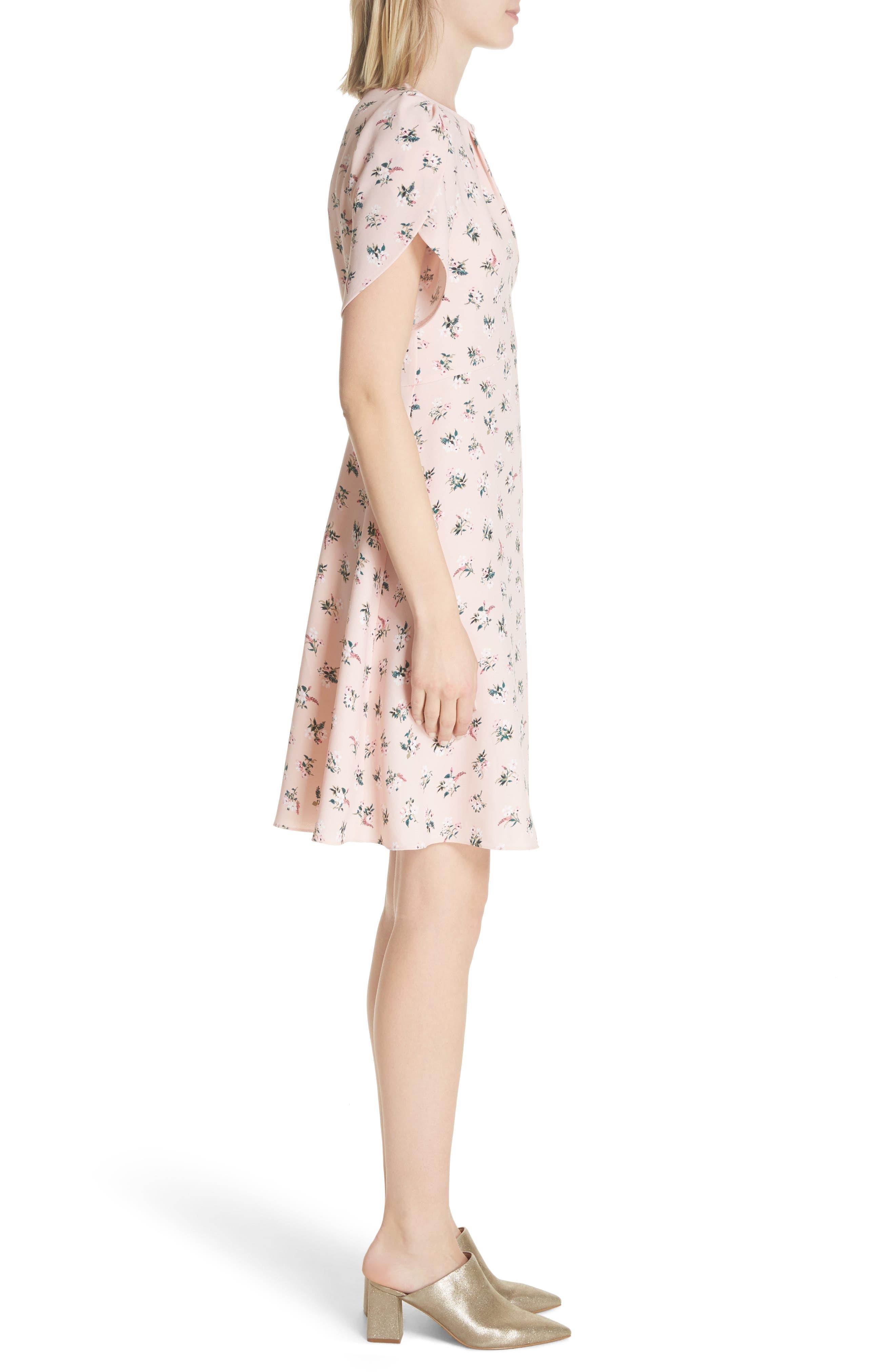 flora tulip sleeve dress,                             Alternate thumbnail 3, color,                             663