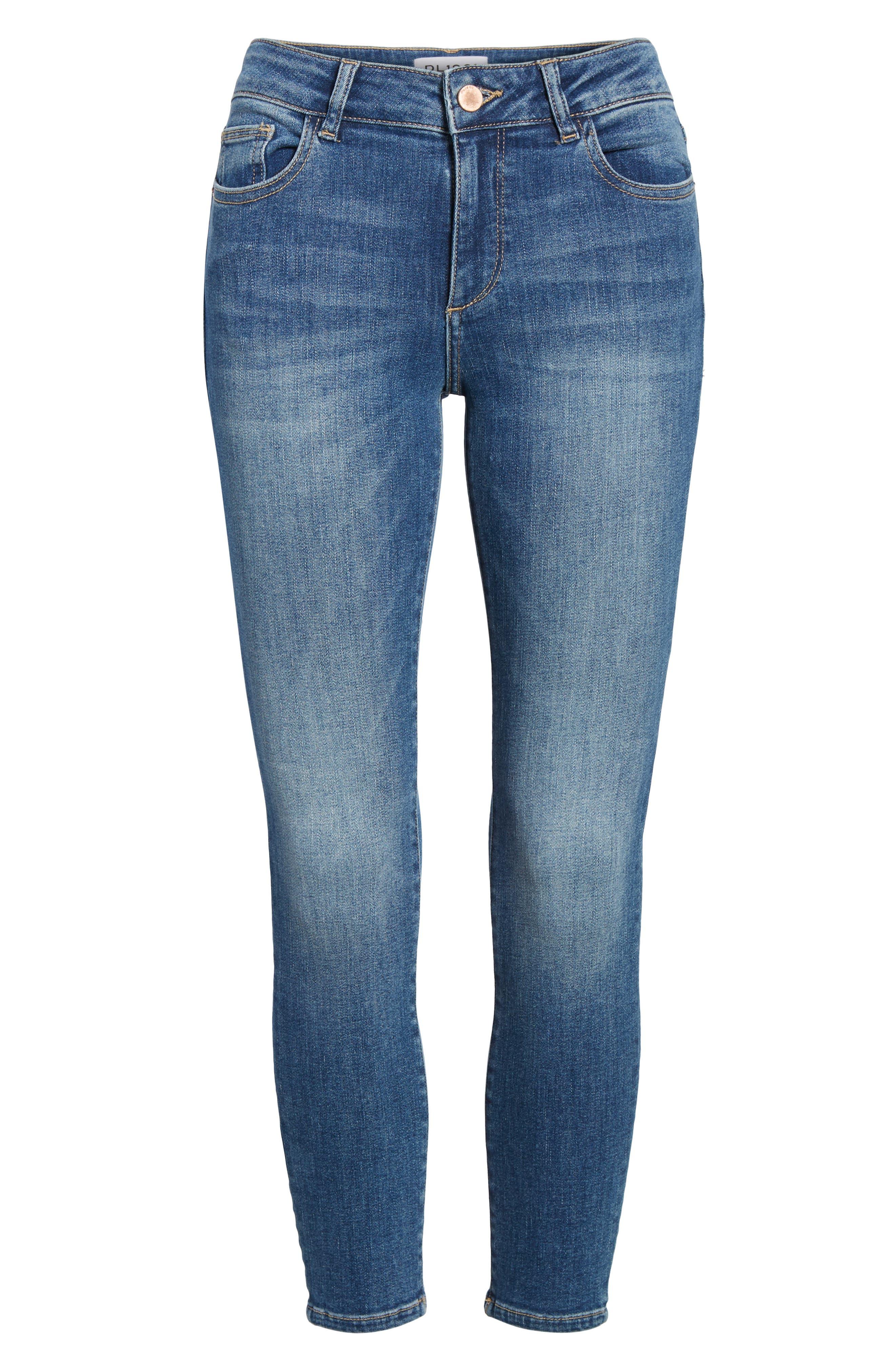 Florence Instasculpt Crop Skinny Jeans,                             Alternate thumbnail 7, color,                             EVERGLADE