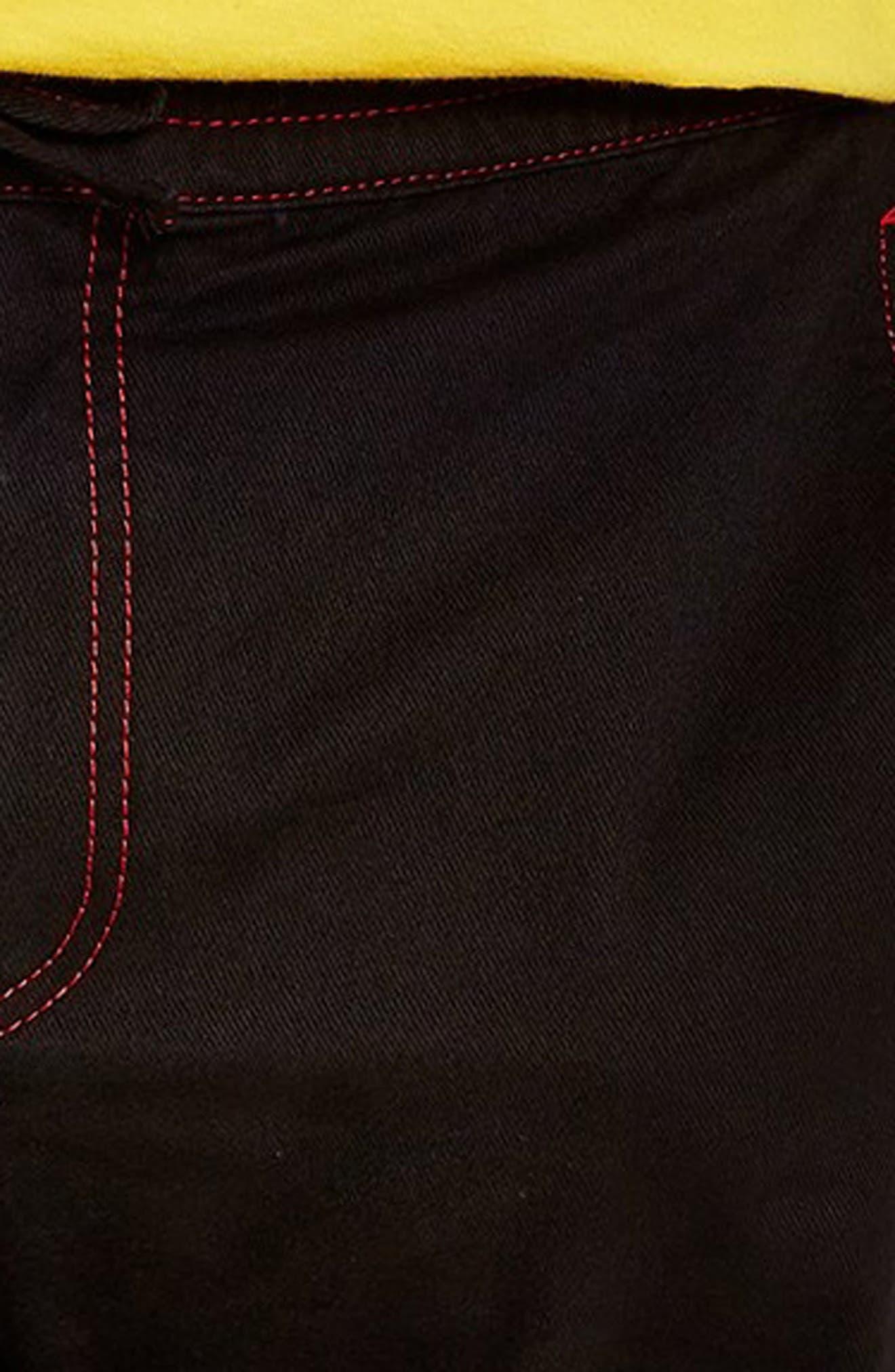 Tapered Fit Jogger Pants,                             Alternate thumbnail 3, color,                             BLACK