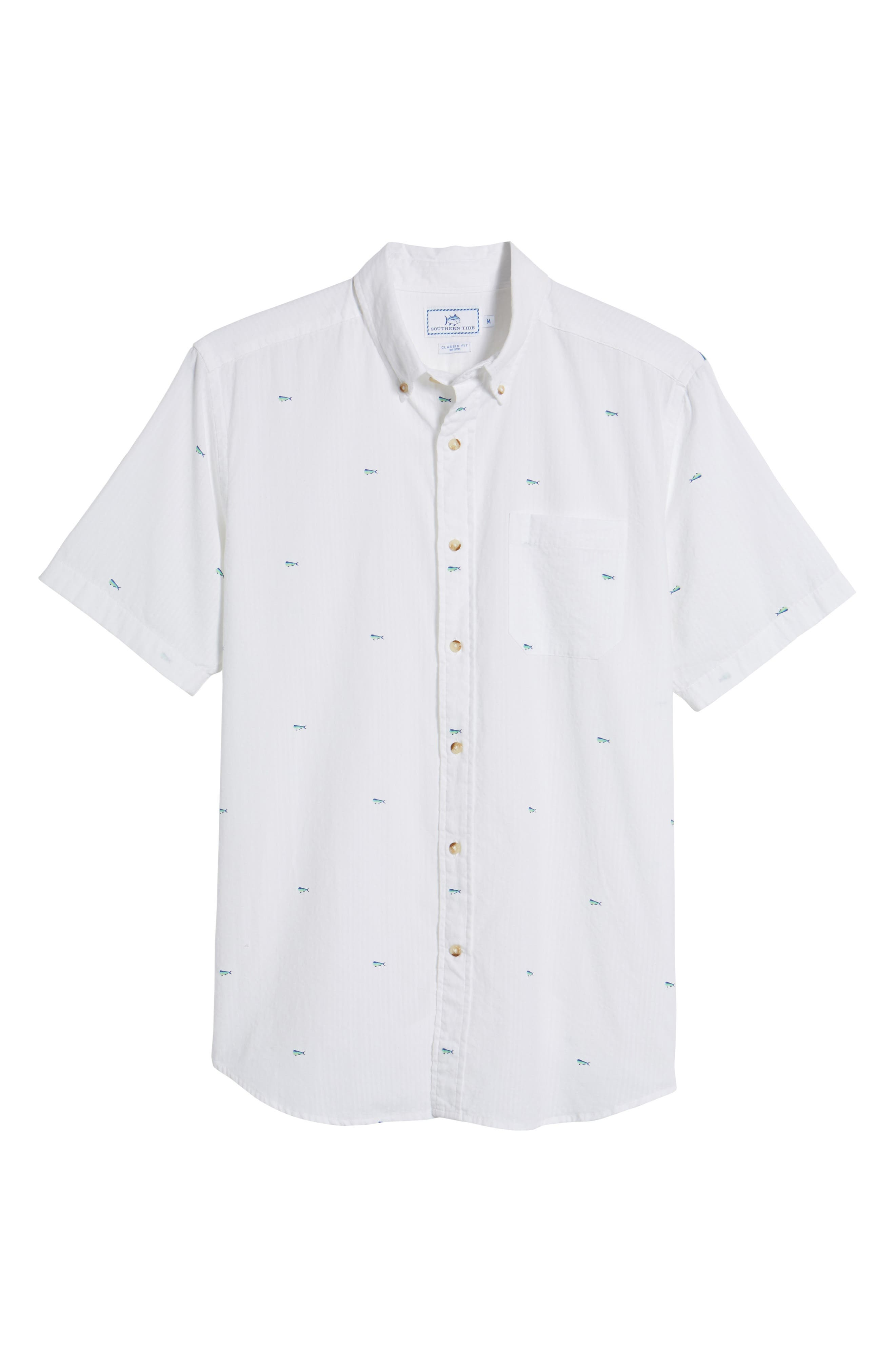 Catch of the Day Sport Shirt,                             Alternate thumbnail 6, color,                             107